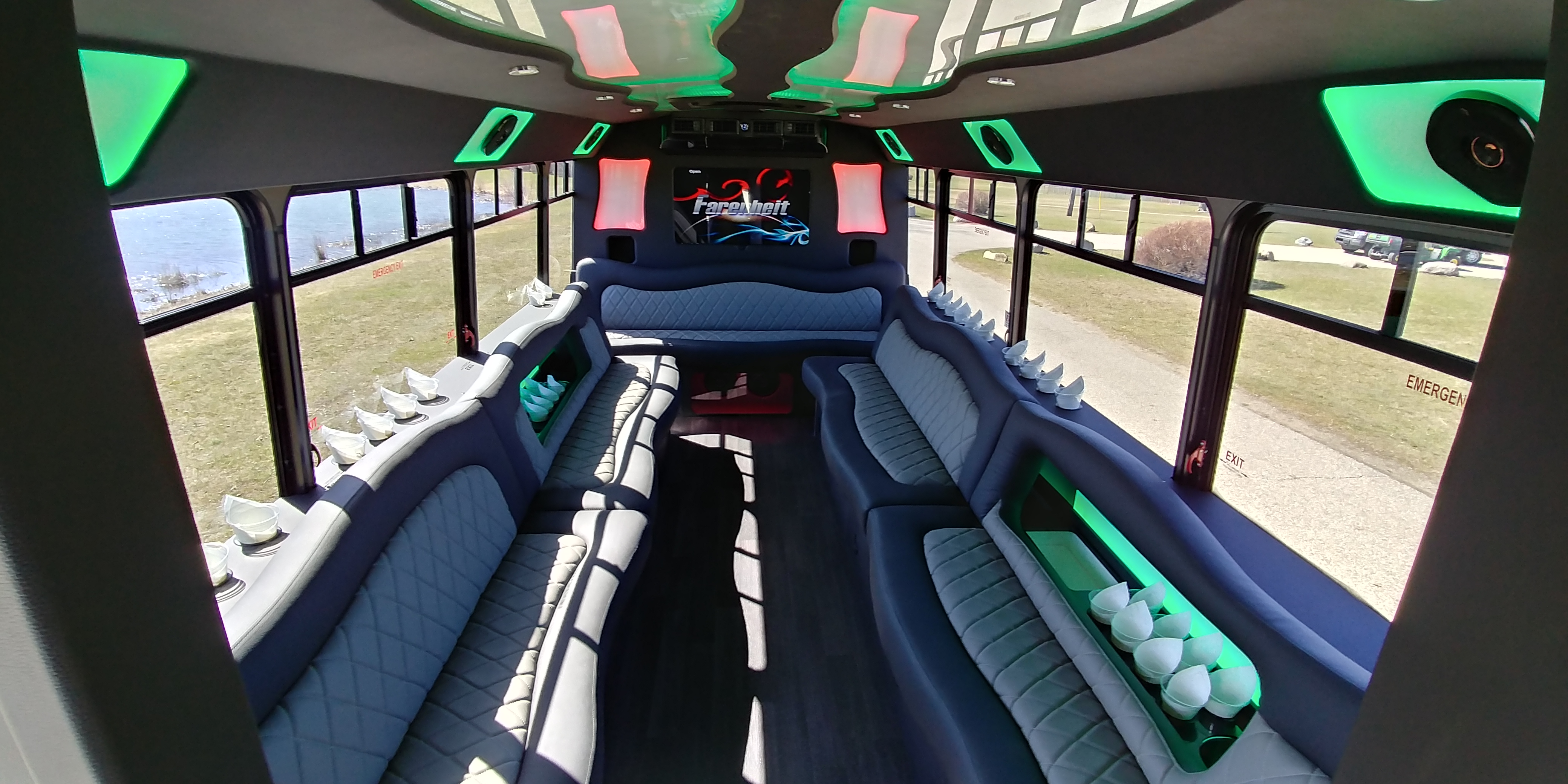 18 Passenger Luxury Limo Bus Interior