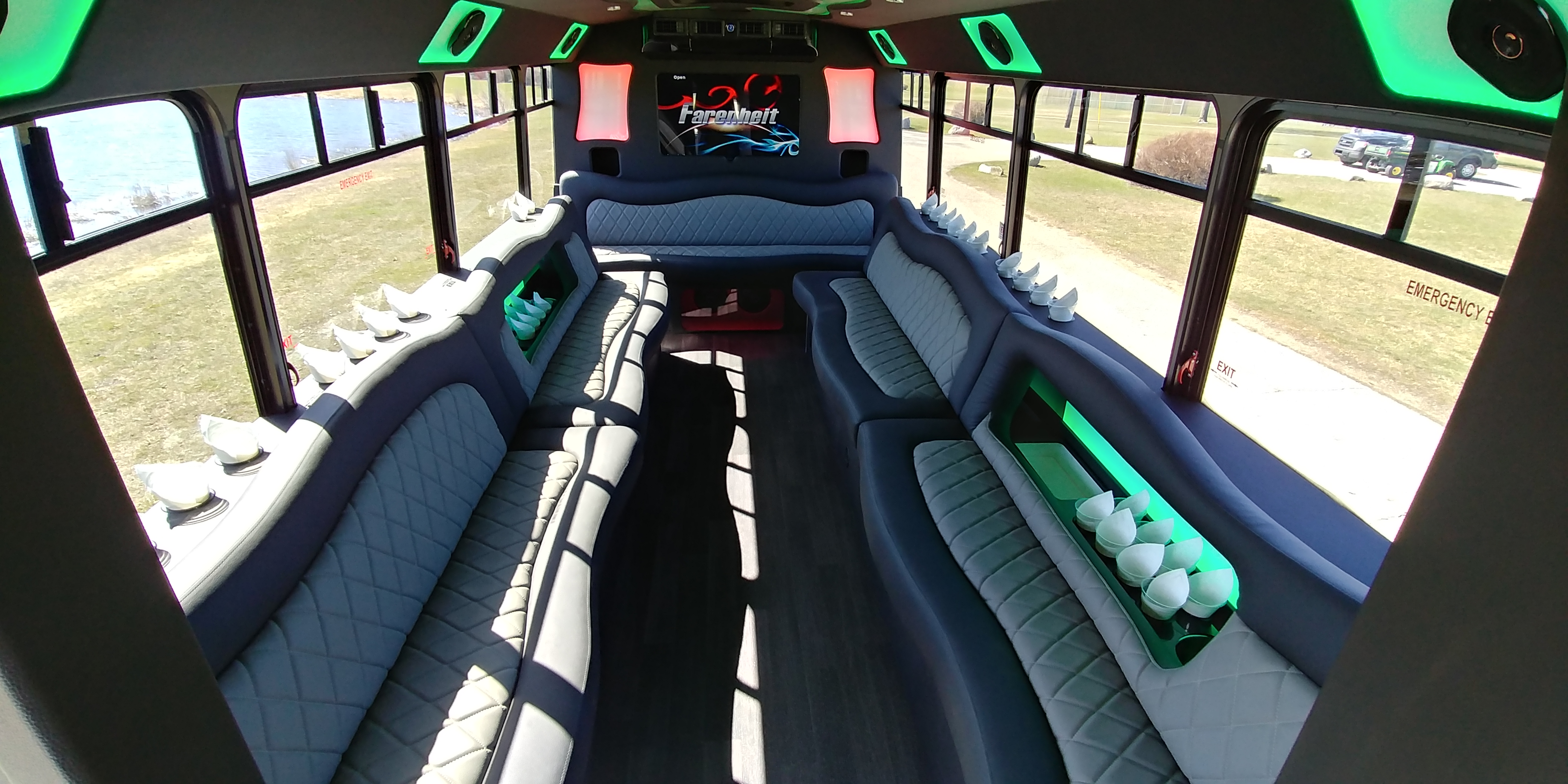 18 Passenger Luxury Limo Bus Interior 2