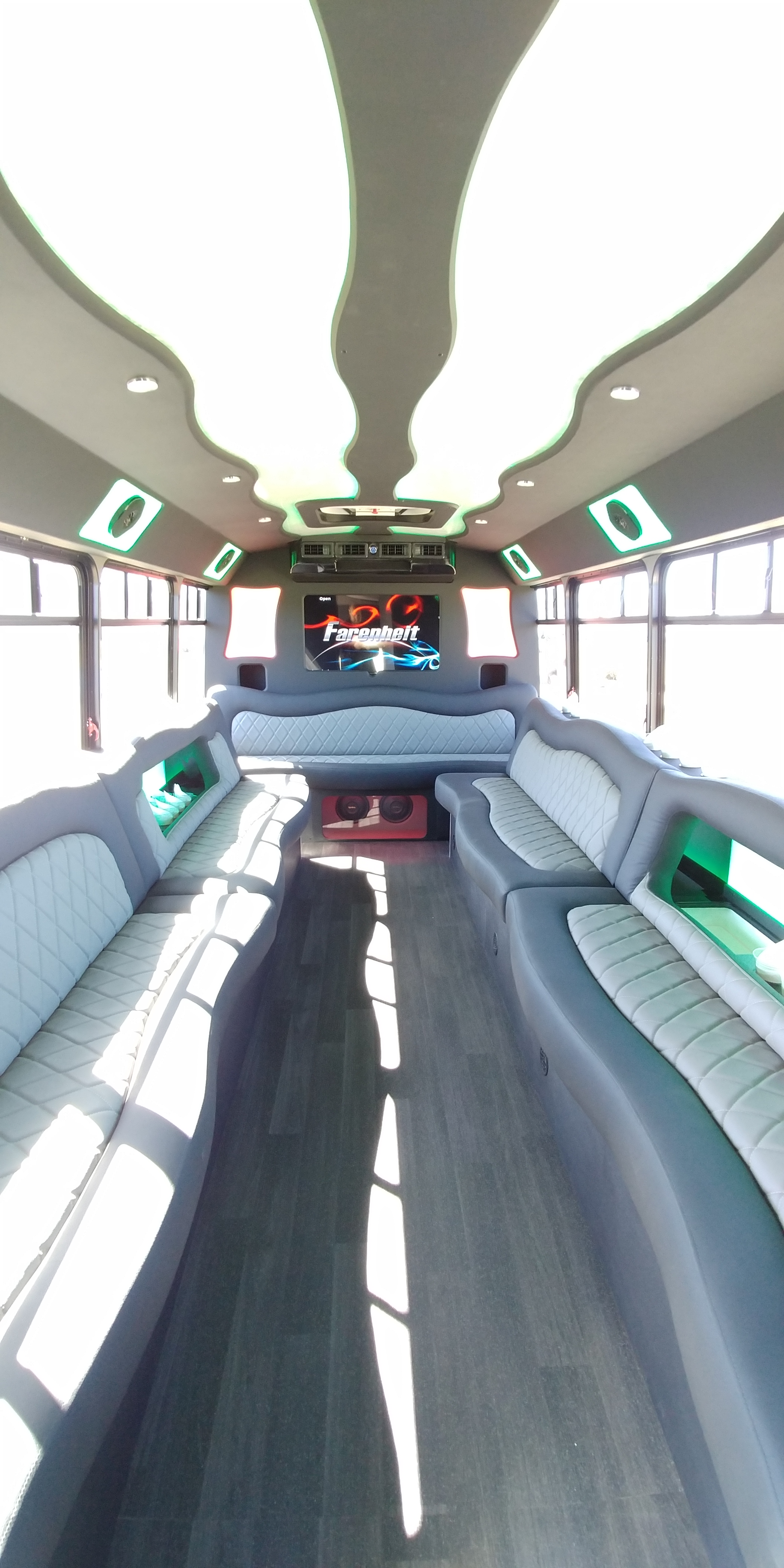 18 Passenger Luxury Limo Bus Interior 3