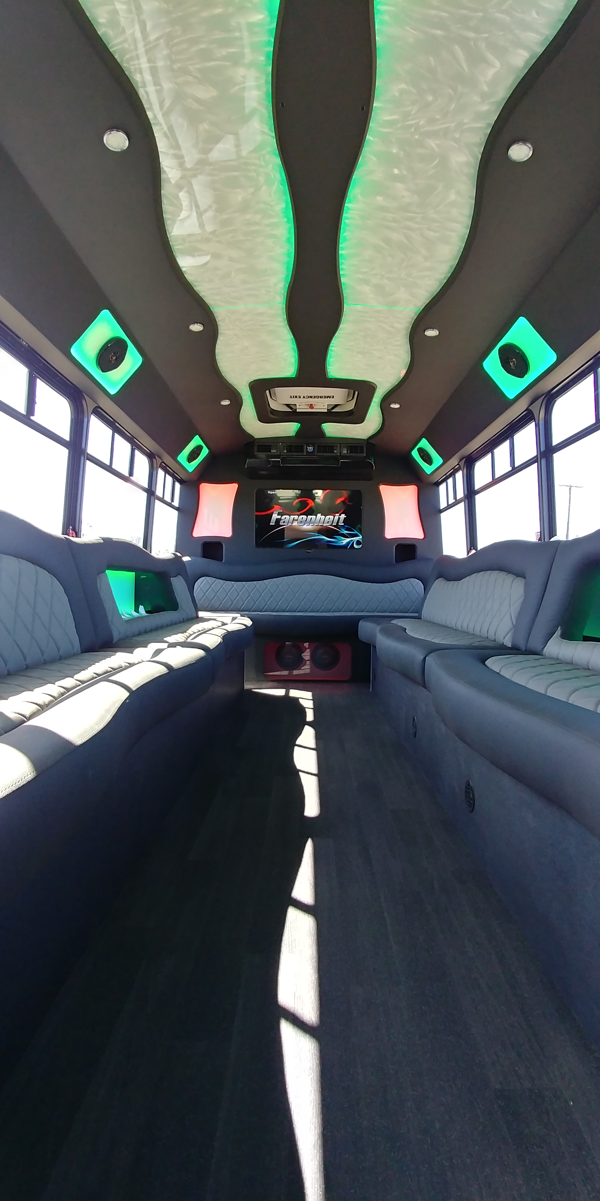18 Passenger Luxury Limo Bus Interior 4