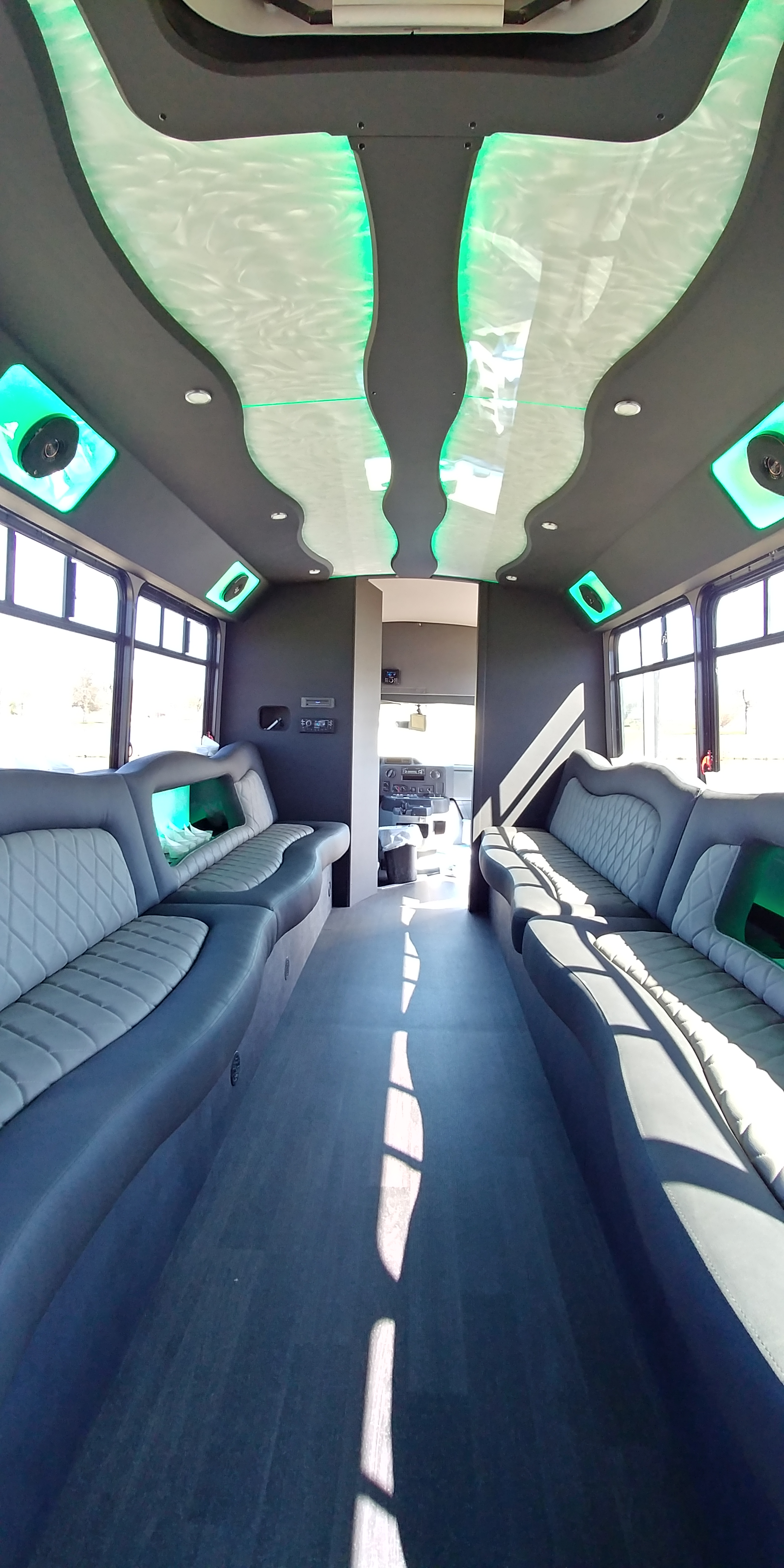18 Passenger Luxury Limo Bus Interior 5