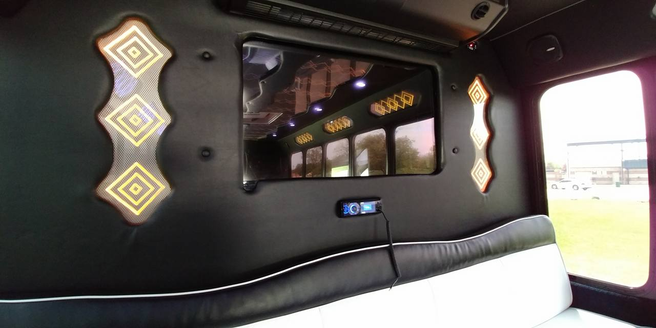 21 Passenger Luxury Limo Bus Interior 2