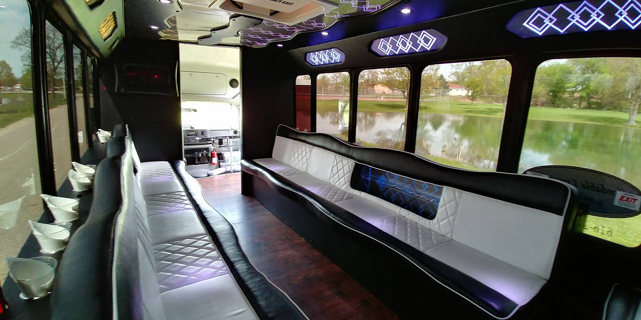 21 Passenger Luxury Limo Bus Interior 3