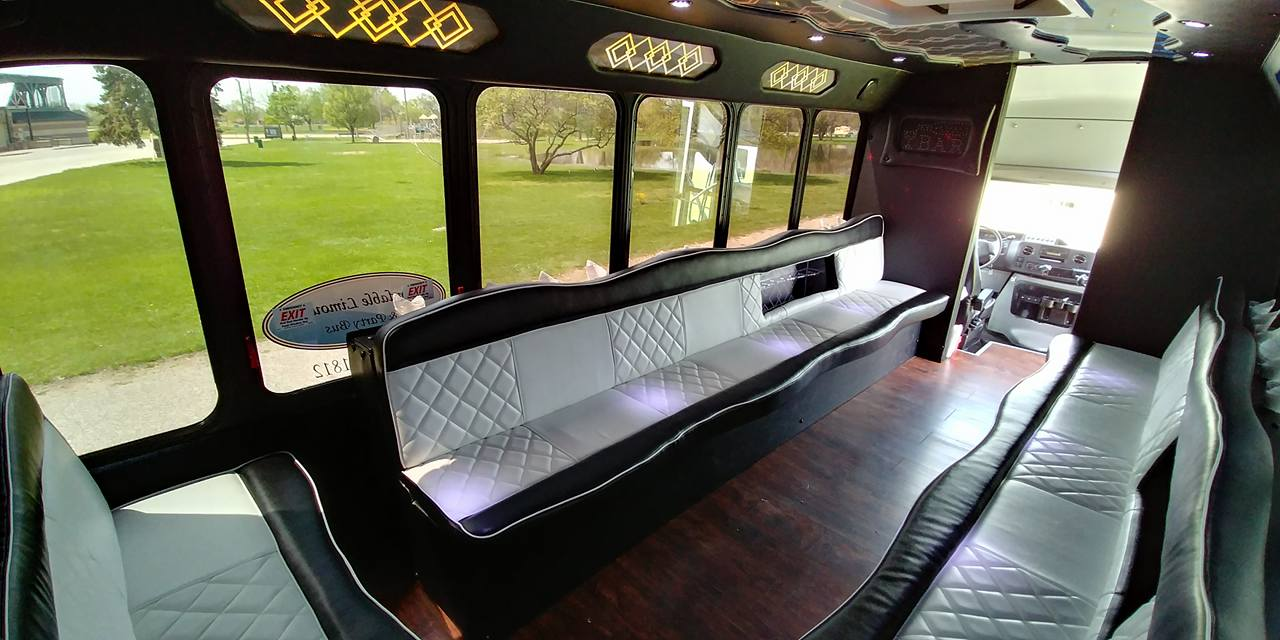 21 Passenger Luxury Limo Bus Interior 5