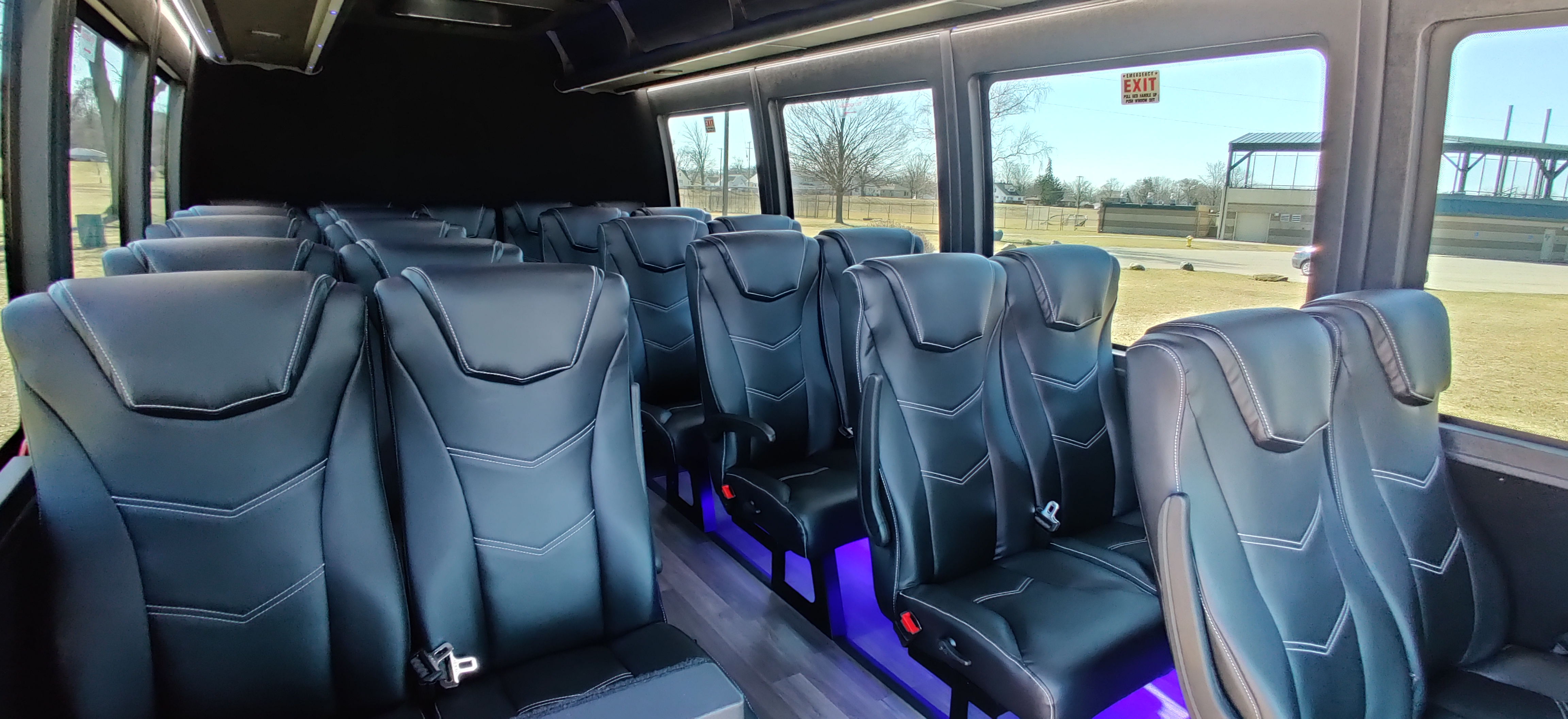 23 Passenger Executive Shuttle Bus Interior 1