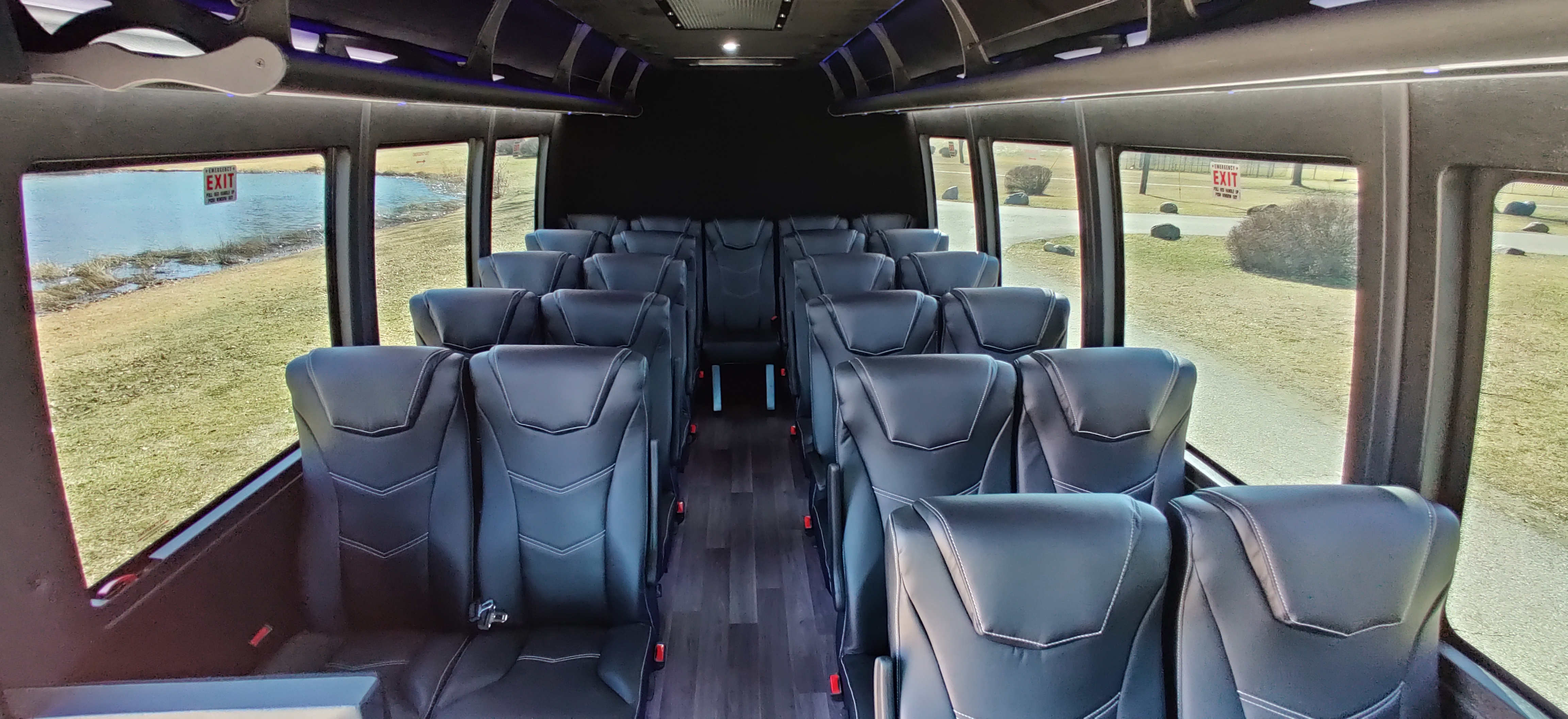 23 Passenger Executive Shuttle Bus Interior 2