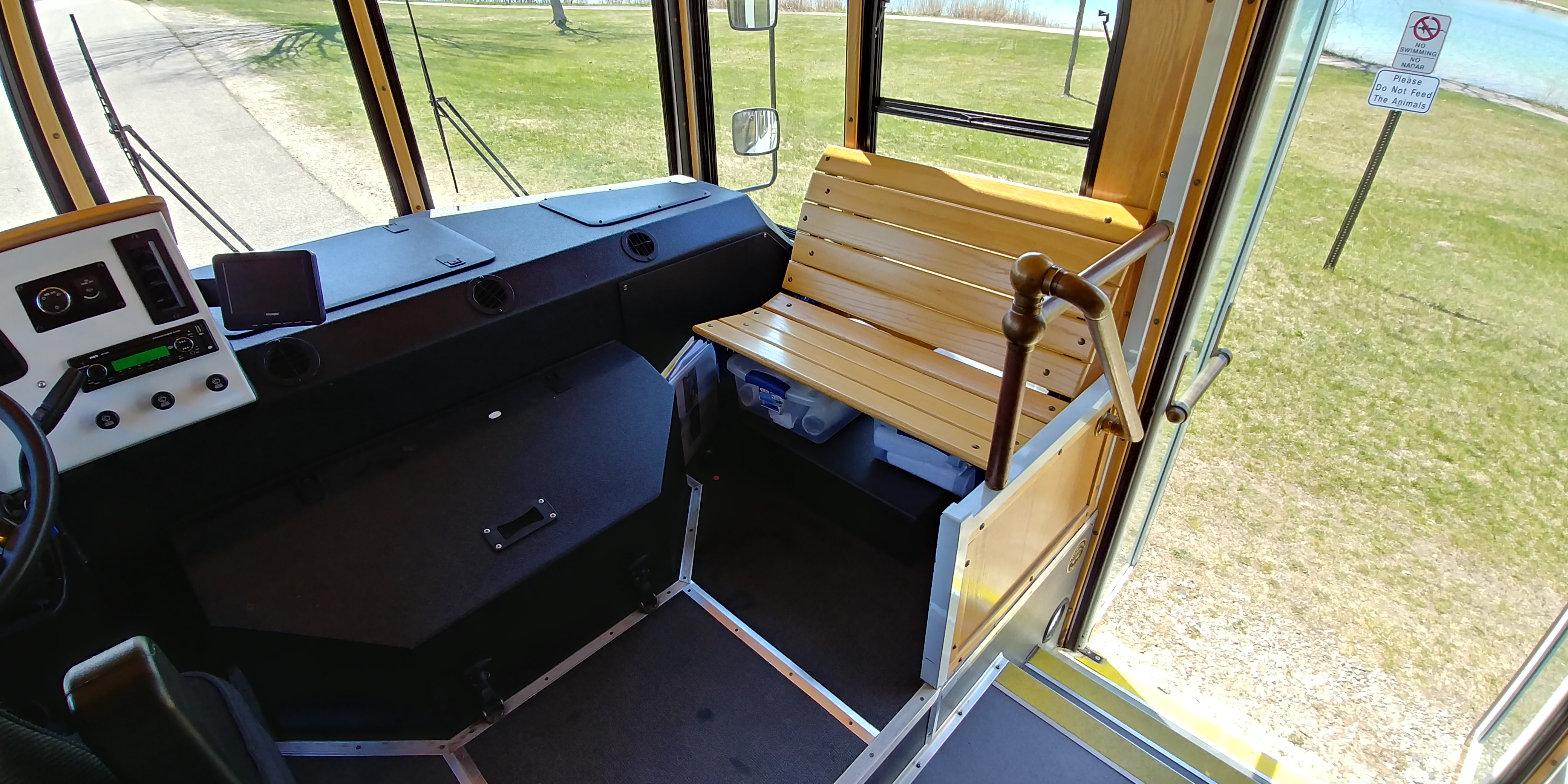 24 Passenger Trolley Front Seating