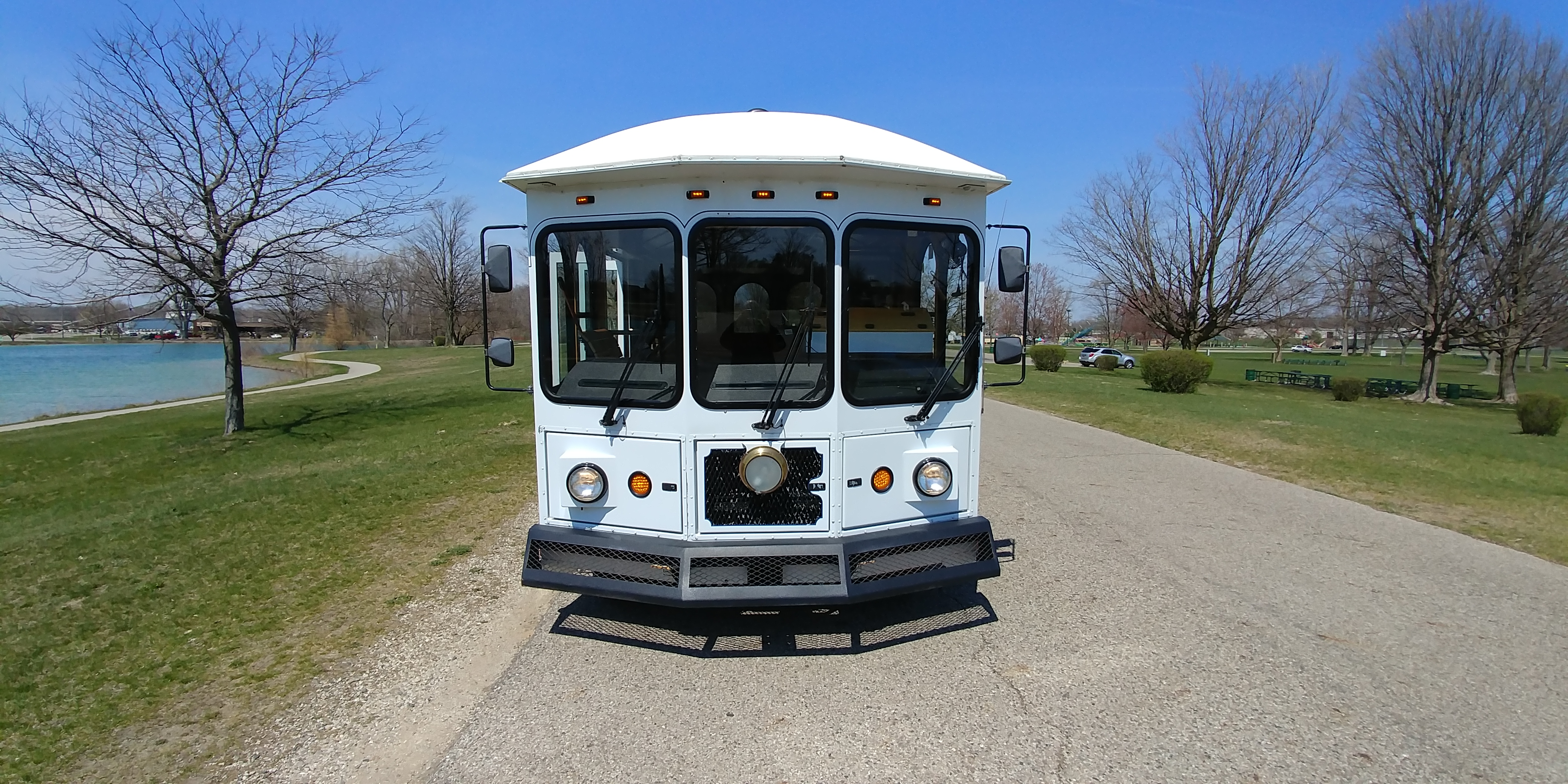 24 Passenger Trolley Front