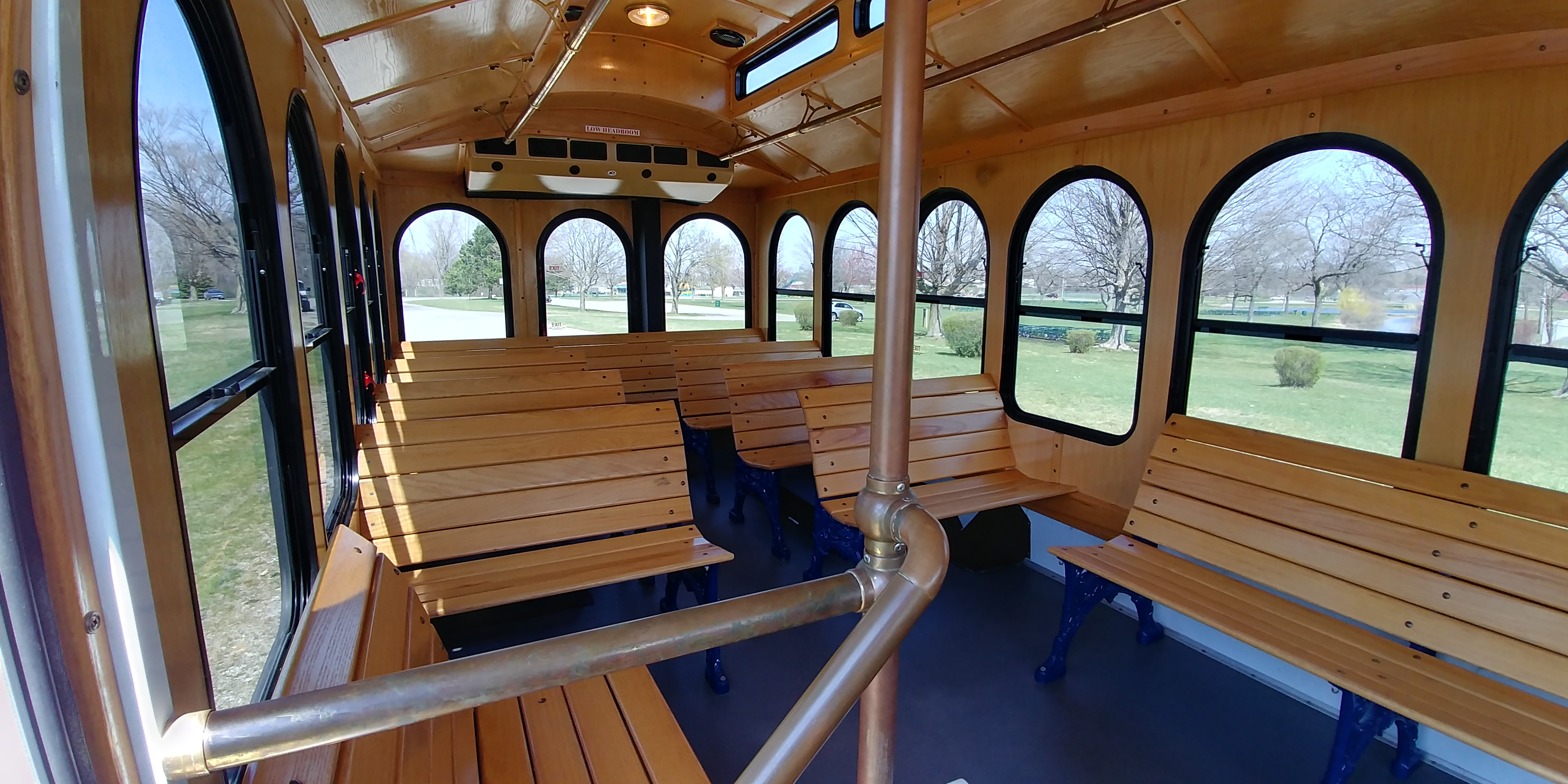 24 Passenger Trolley Interior 1