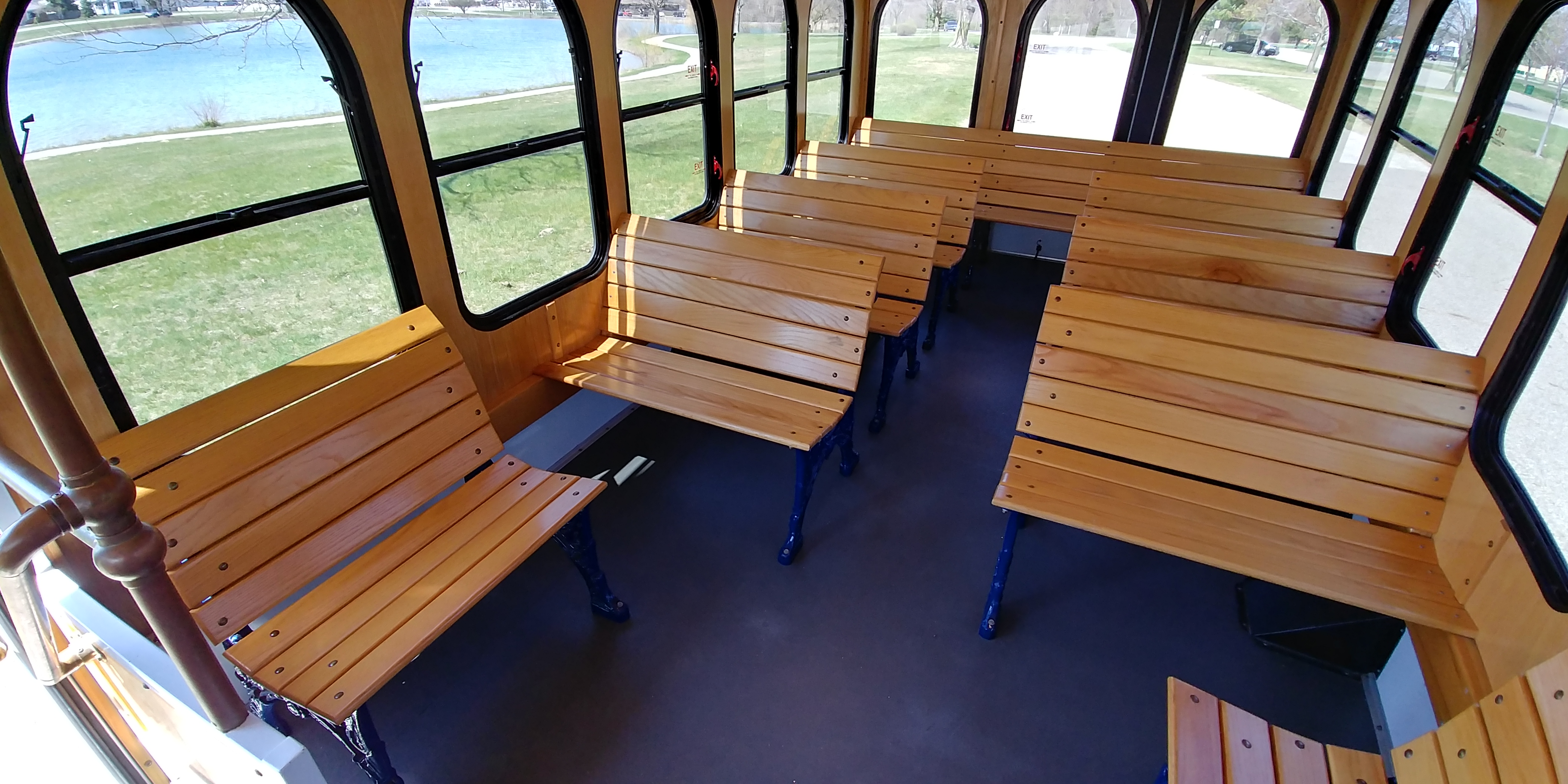 24 Passenger Trolley Interior 3