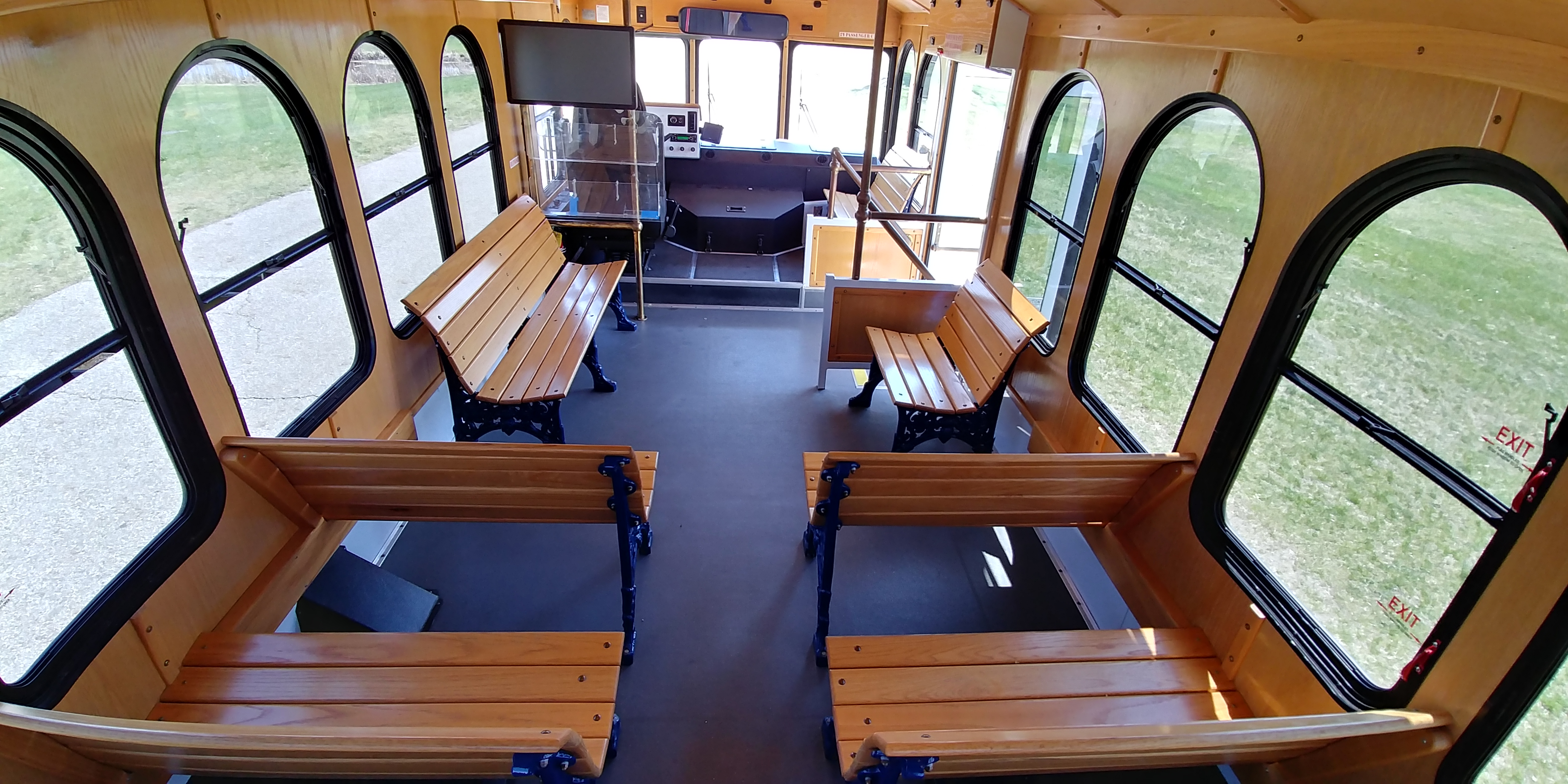 24 Passenger Trolley Interior 5