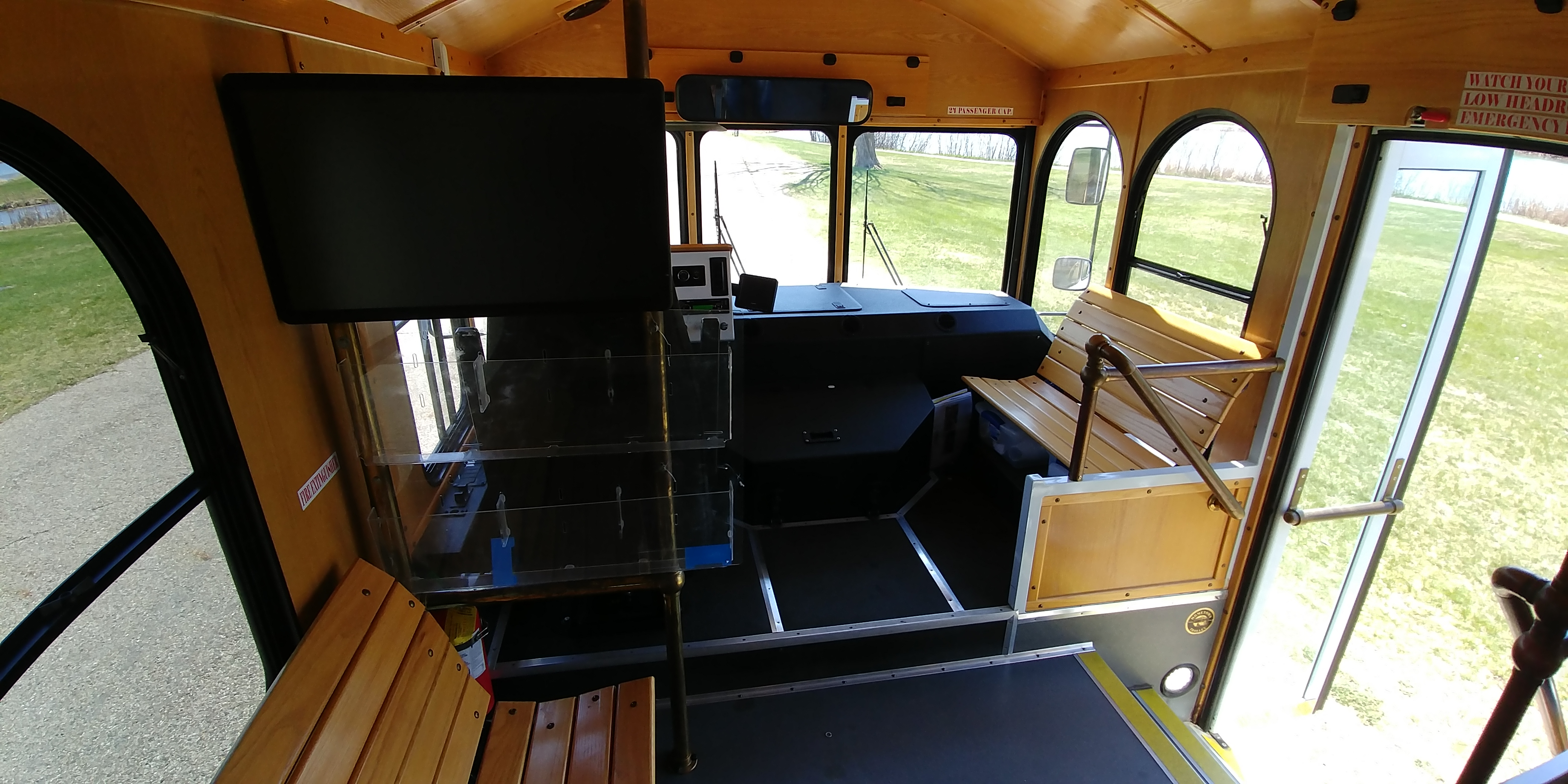 24 Passenger Trolley Interior 6