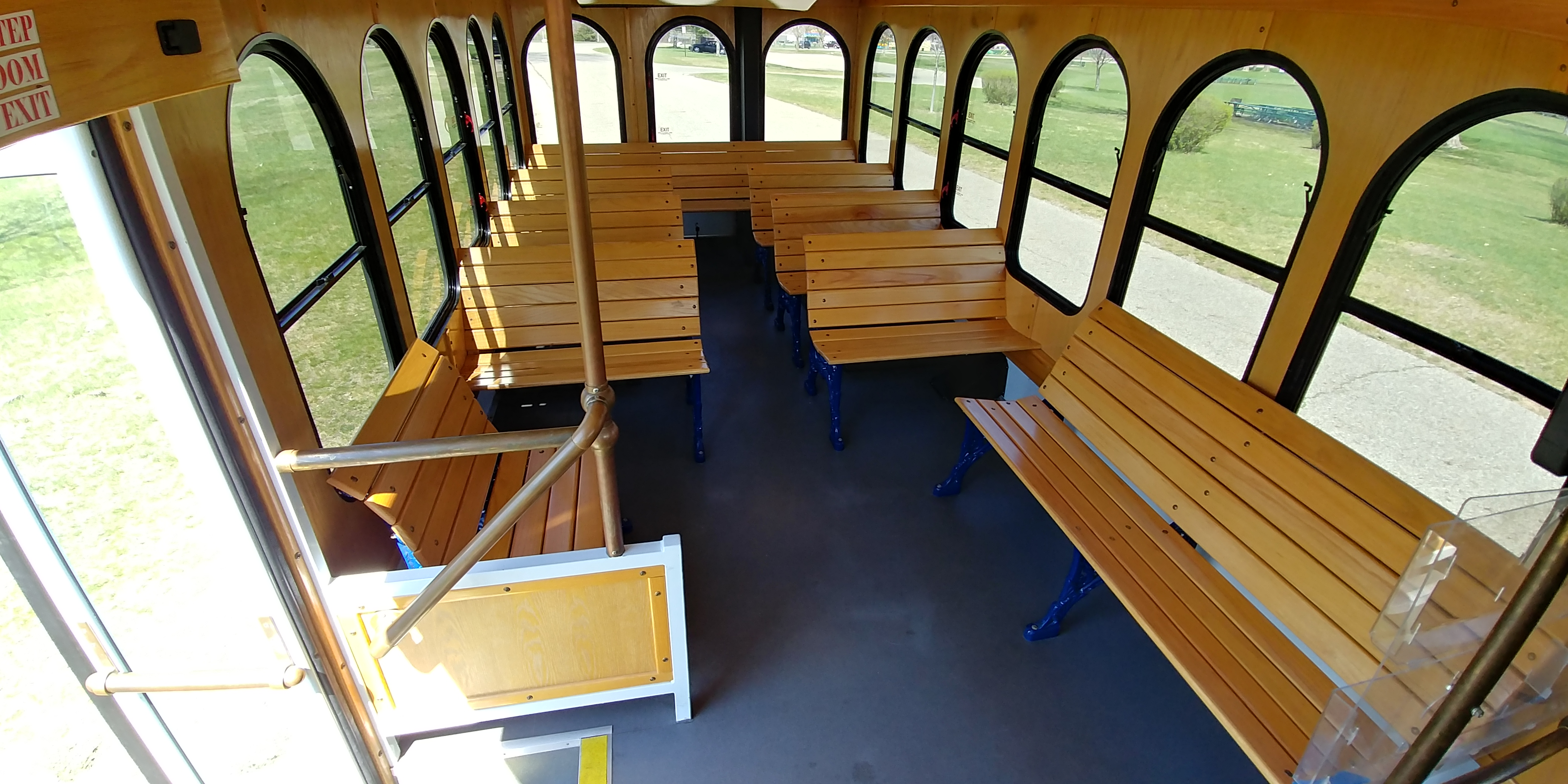 24 Passenger Trolley Interior 7