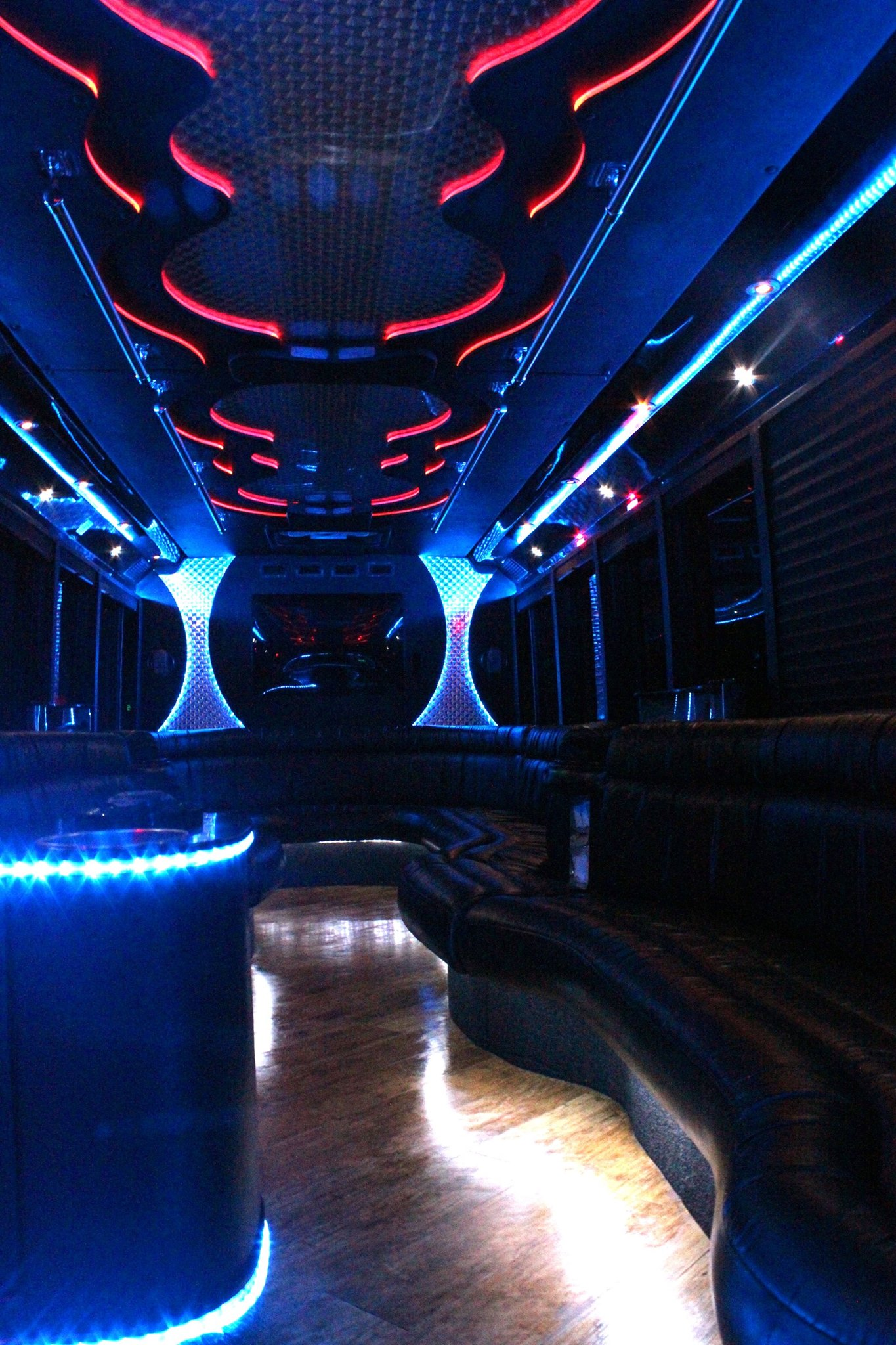 26-2 Passenger Luxury Limo Bus Interior 1