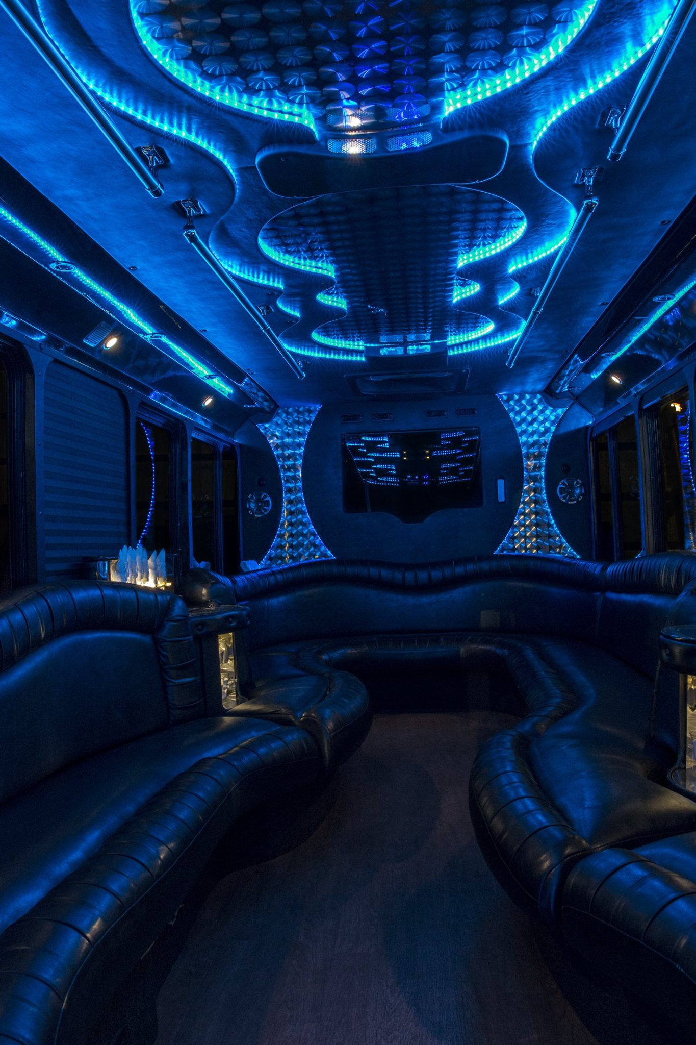 26 Passenger Luxury Limo Bus Interior