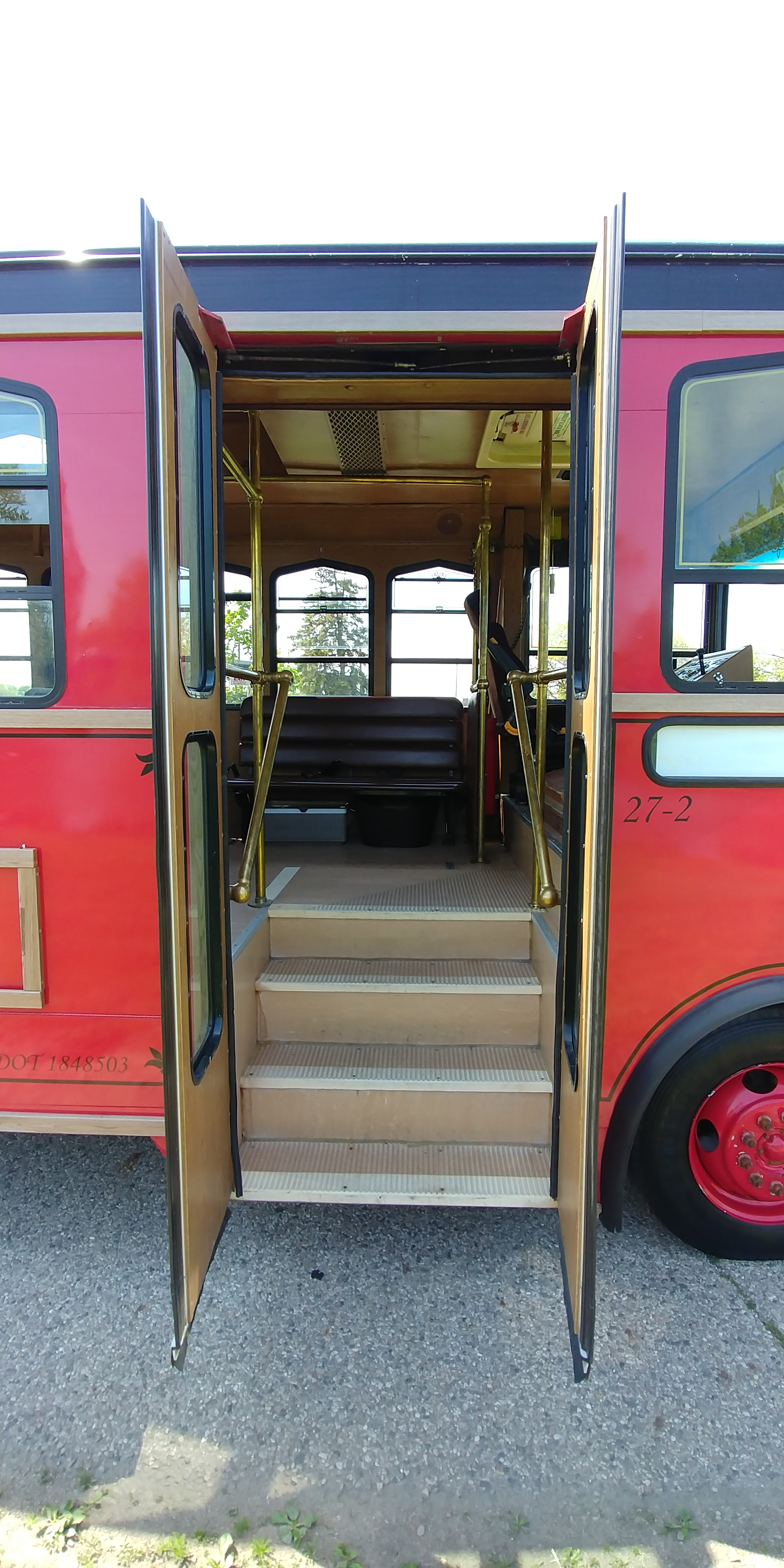 27 Passenger Trolley Entrance