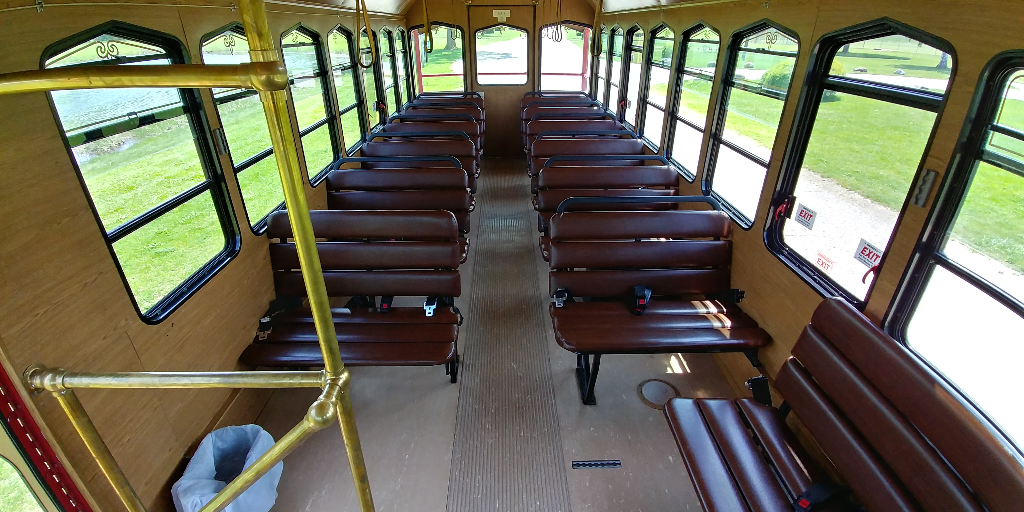 27 Passenger Trolley Interior 1