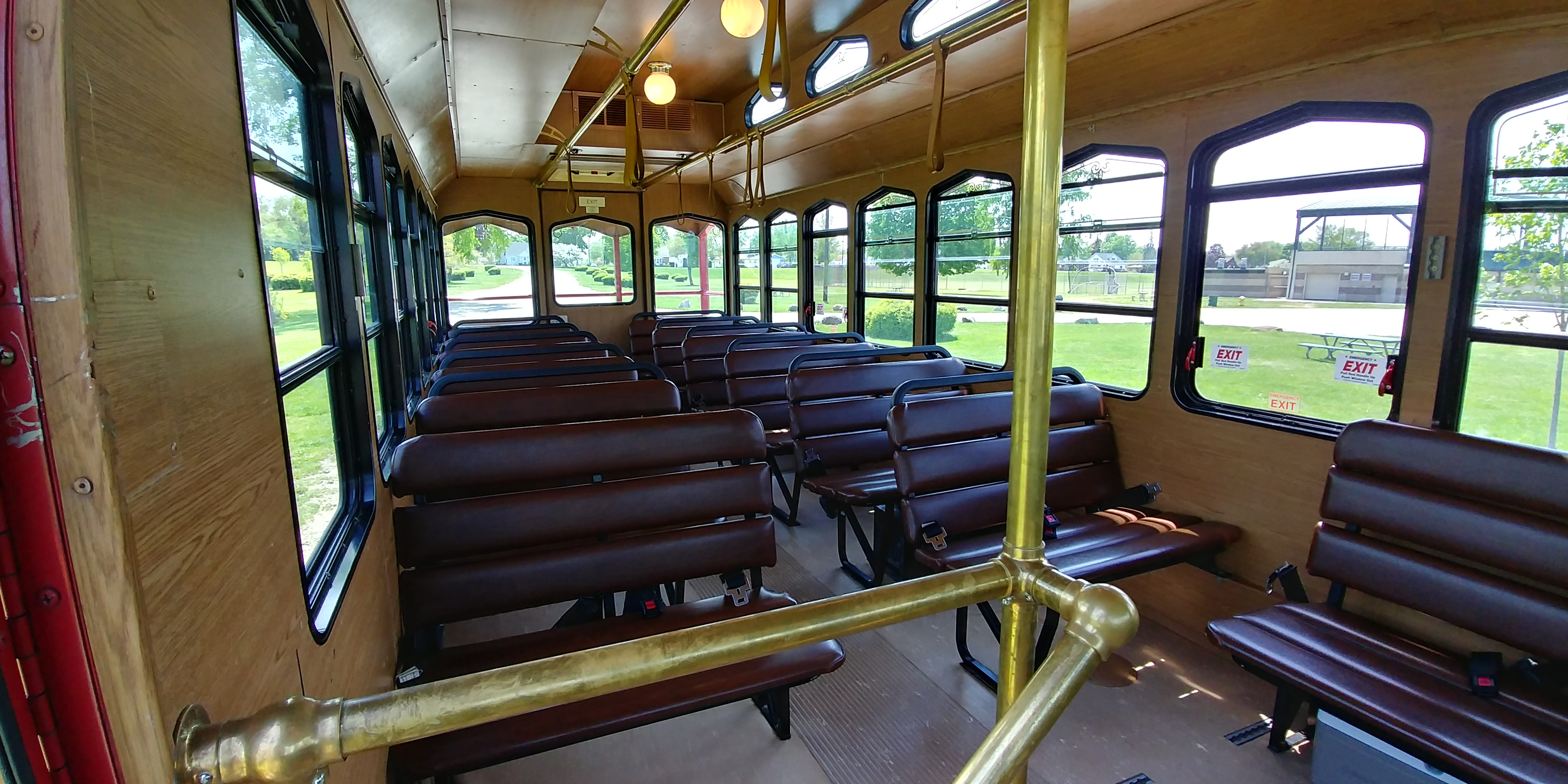 27 Passenger Trolley Interior 2
