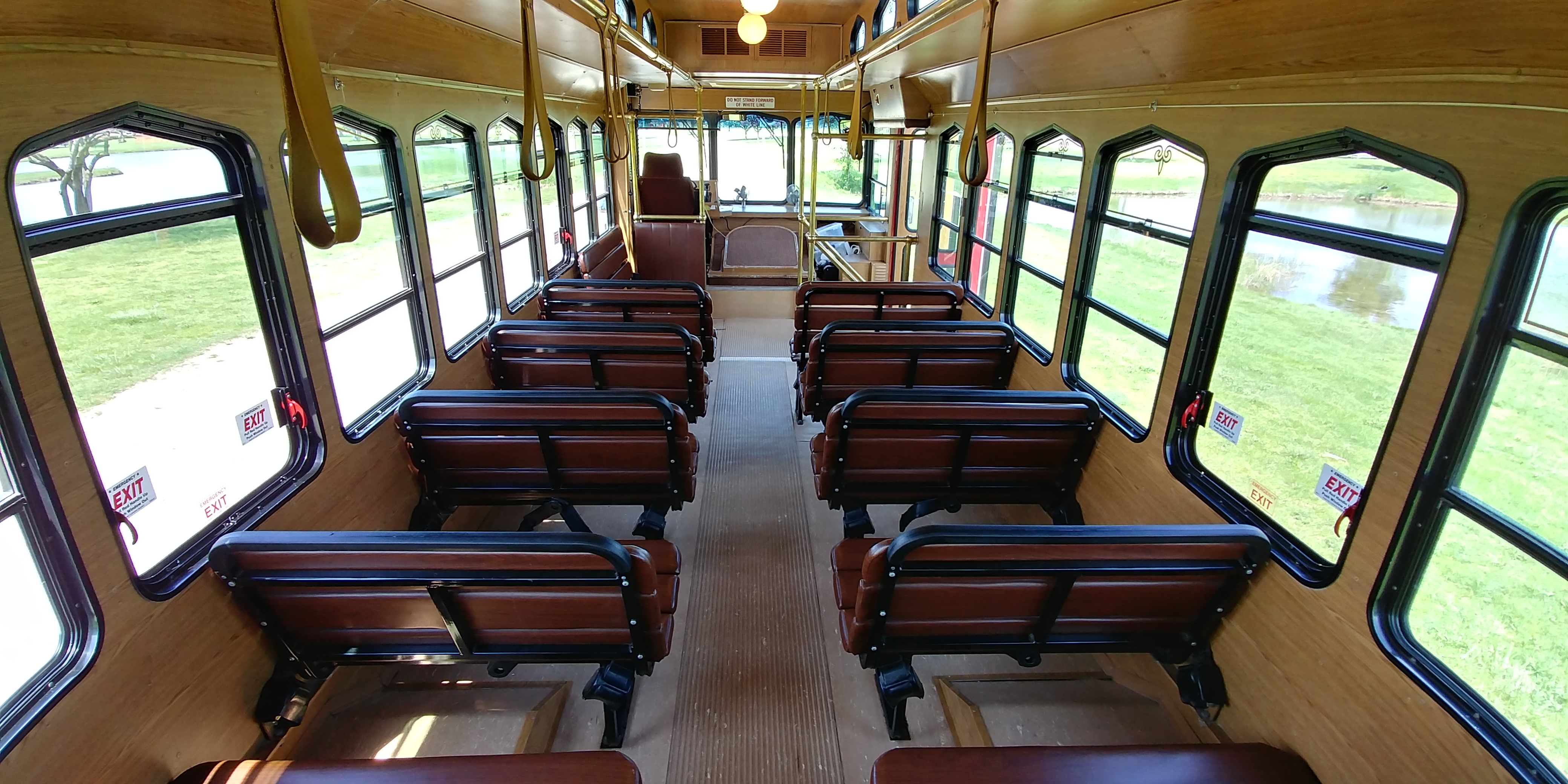 27 Passenger Trolley Interior 3