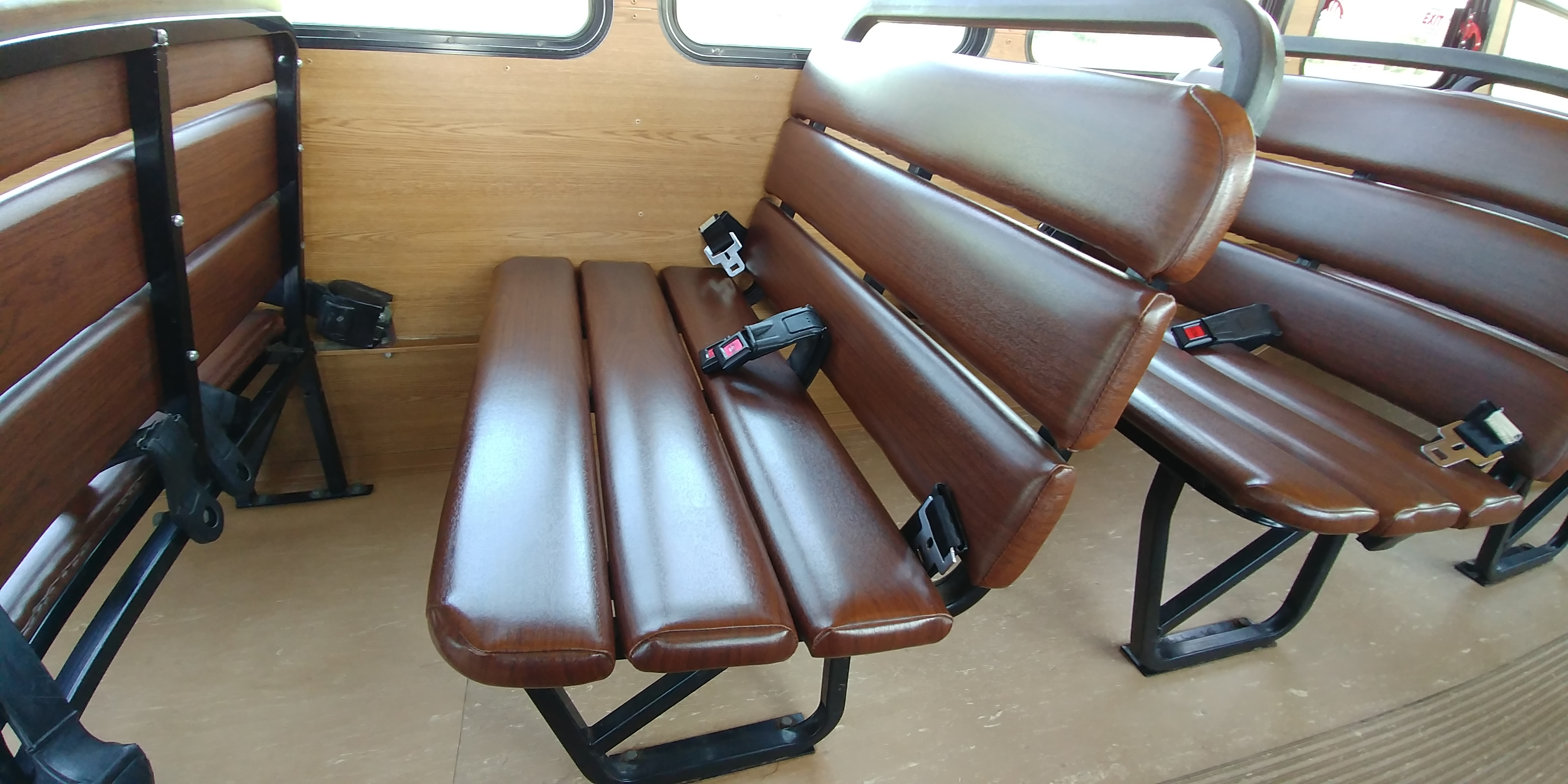 27 Passenger Trolley Faux Wood Seating