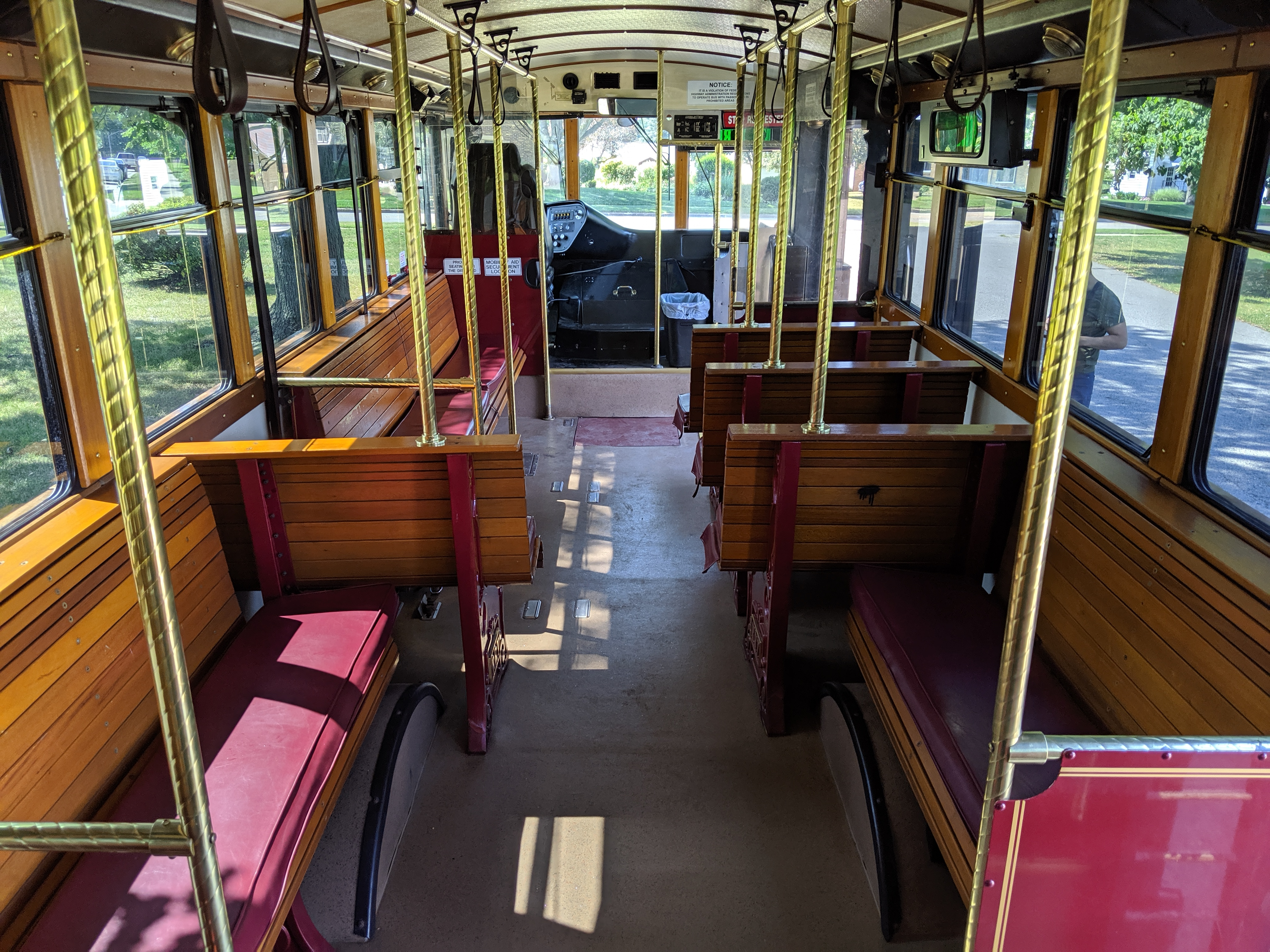 27 Passenger Trolley #27-3 Interior 4