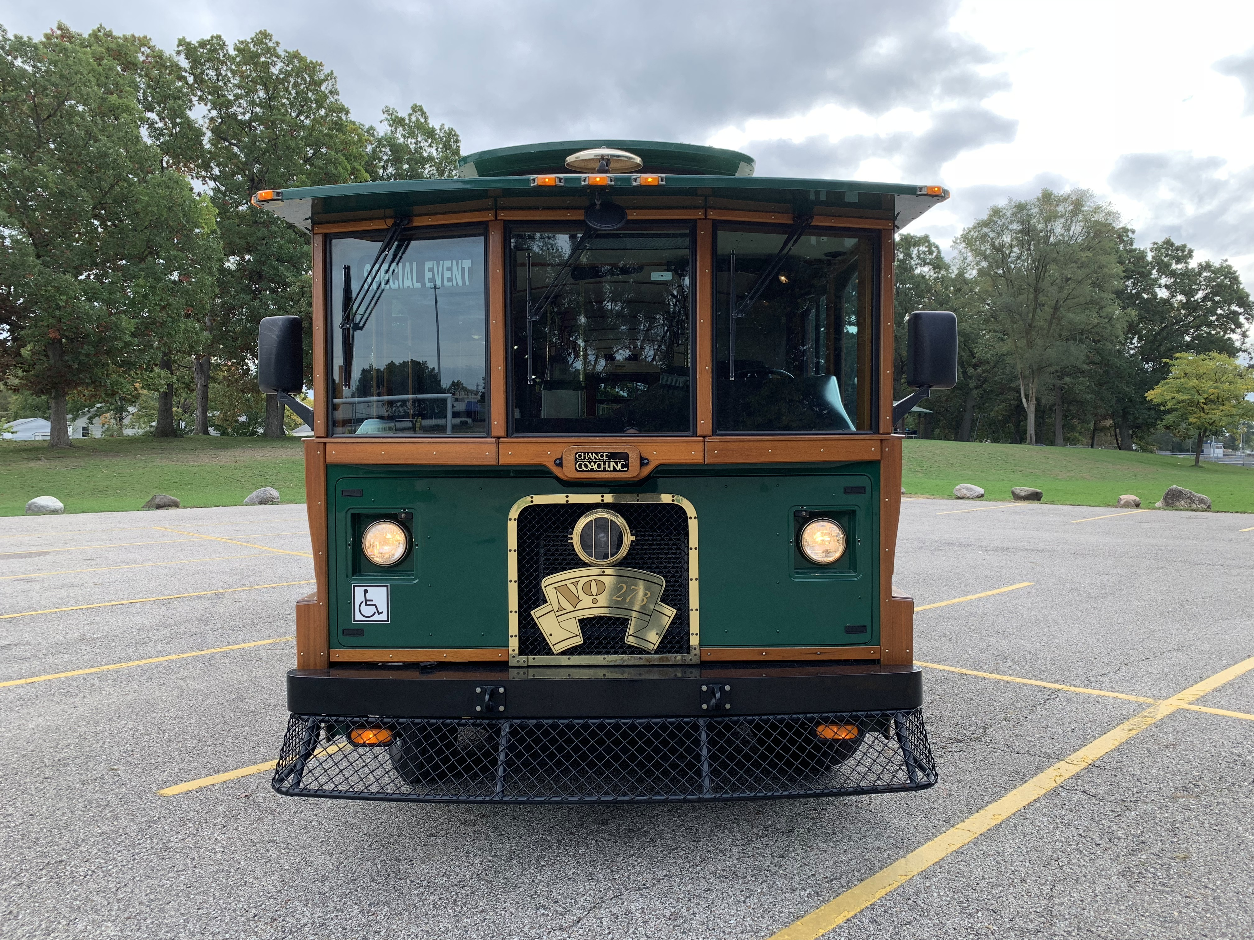 27 Passenger Trolley Front