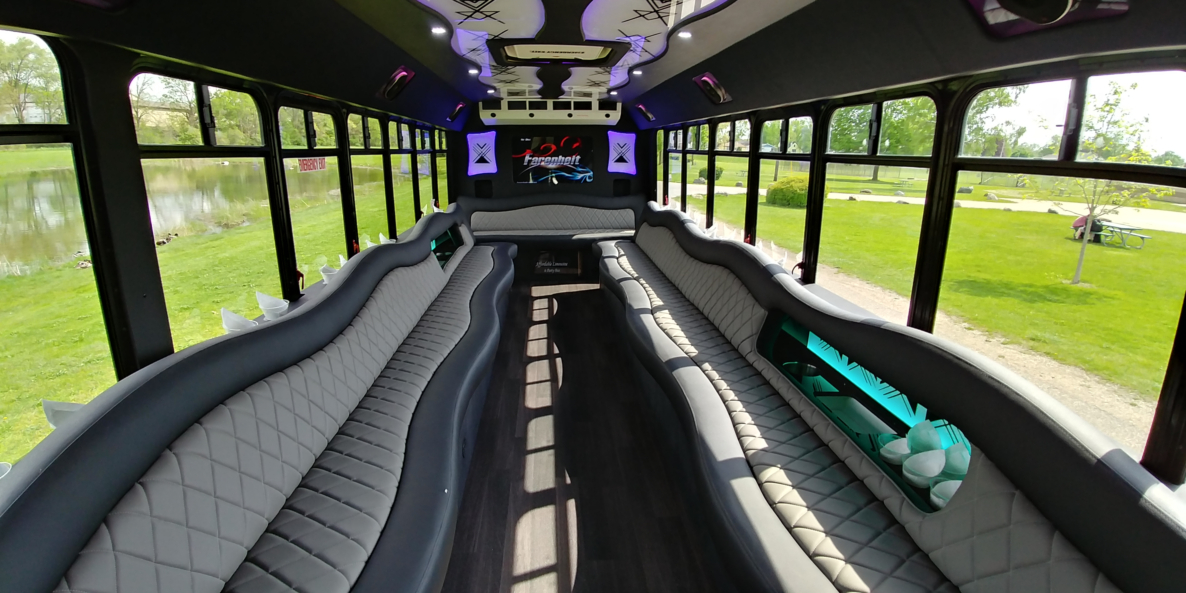 28 Passenger Luxury Limo Bus Interior 1