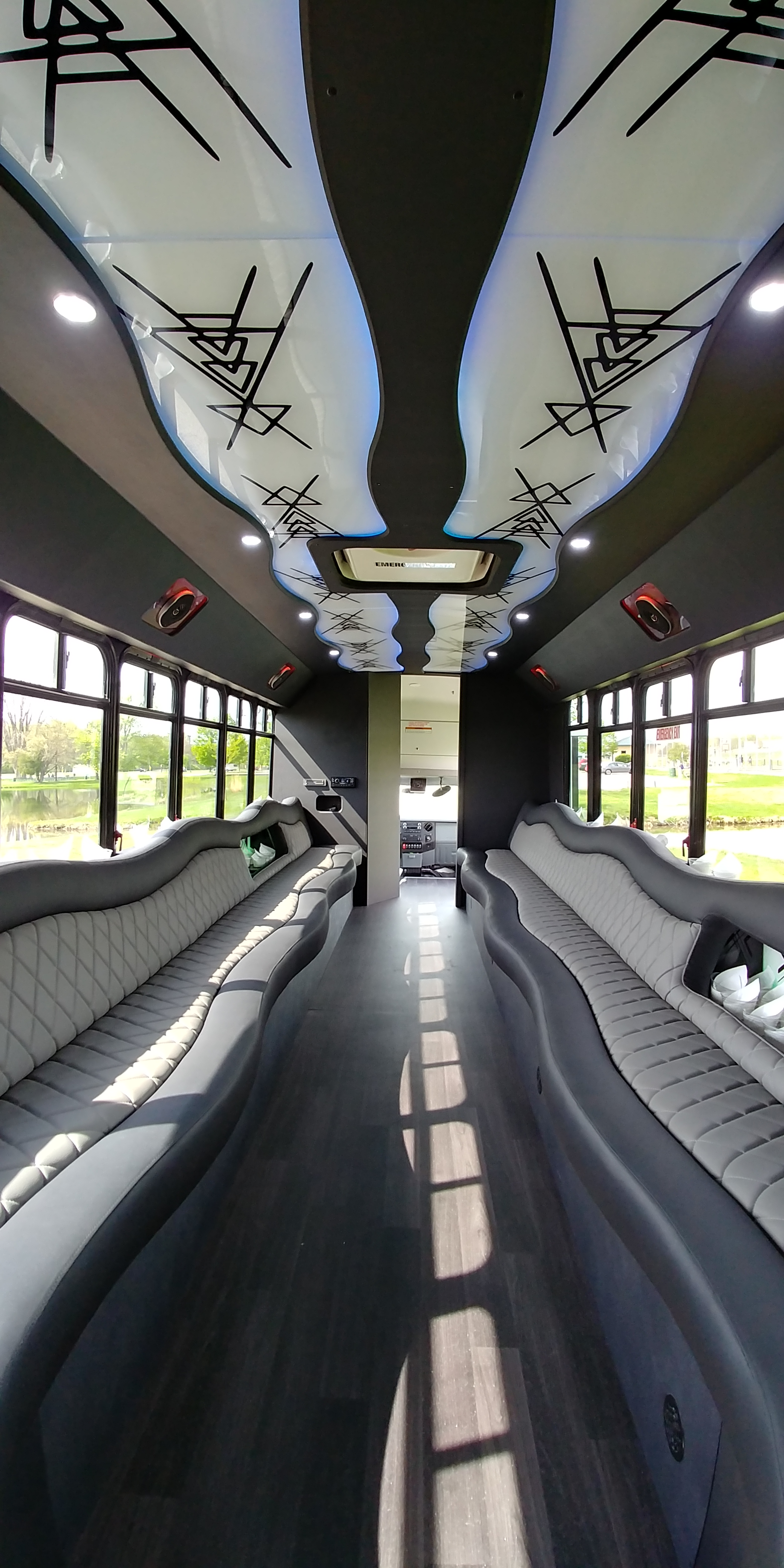 28 Passenger Luxury Limo Bus Interior 6