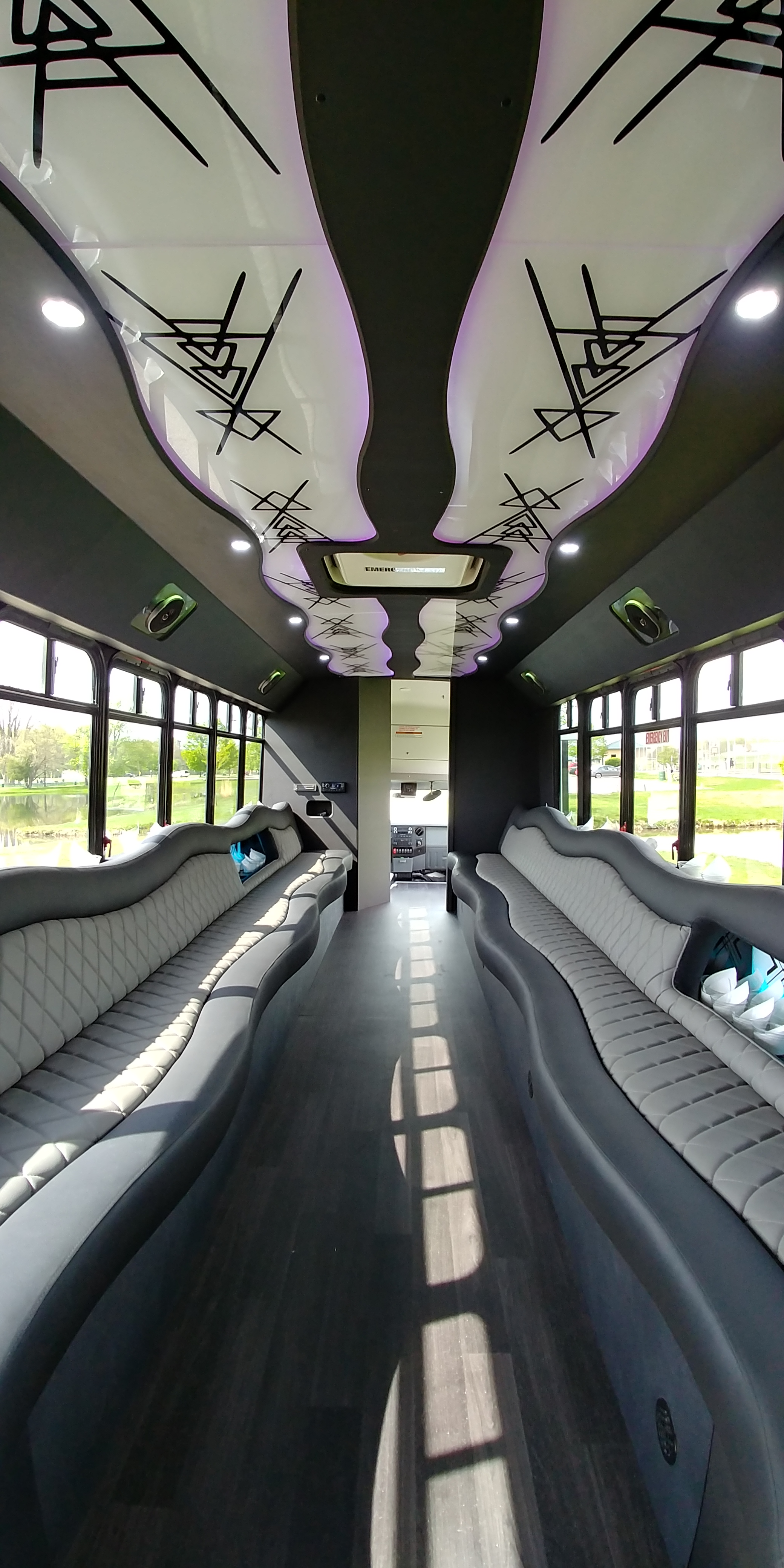 28 Passenger Luxury Limo Bus Interior 7