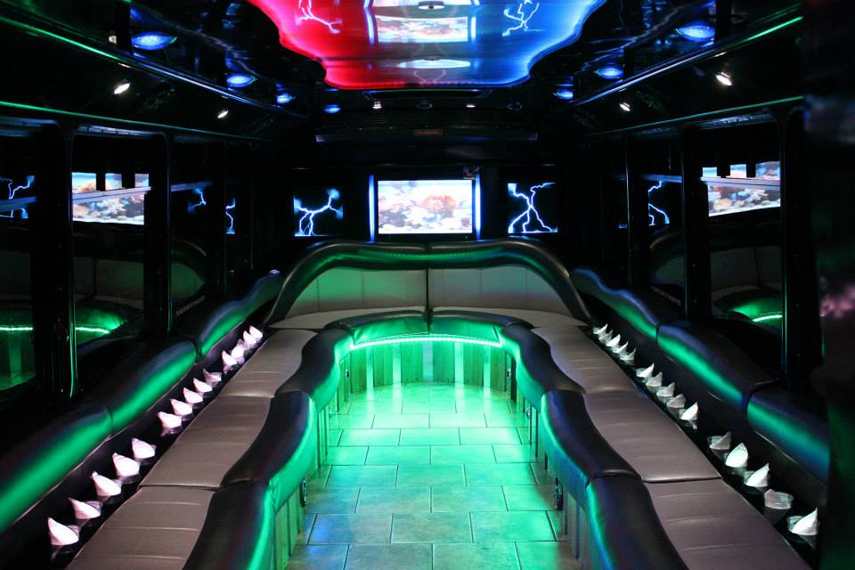 30 Passenger Luxury Limo Bus Interior