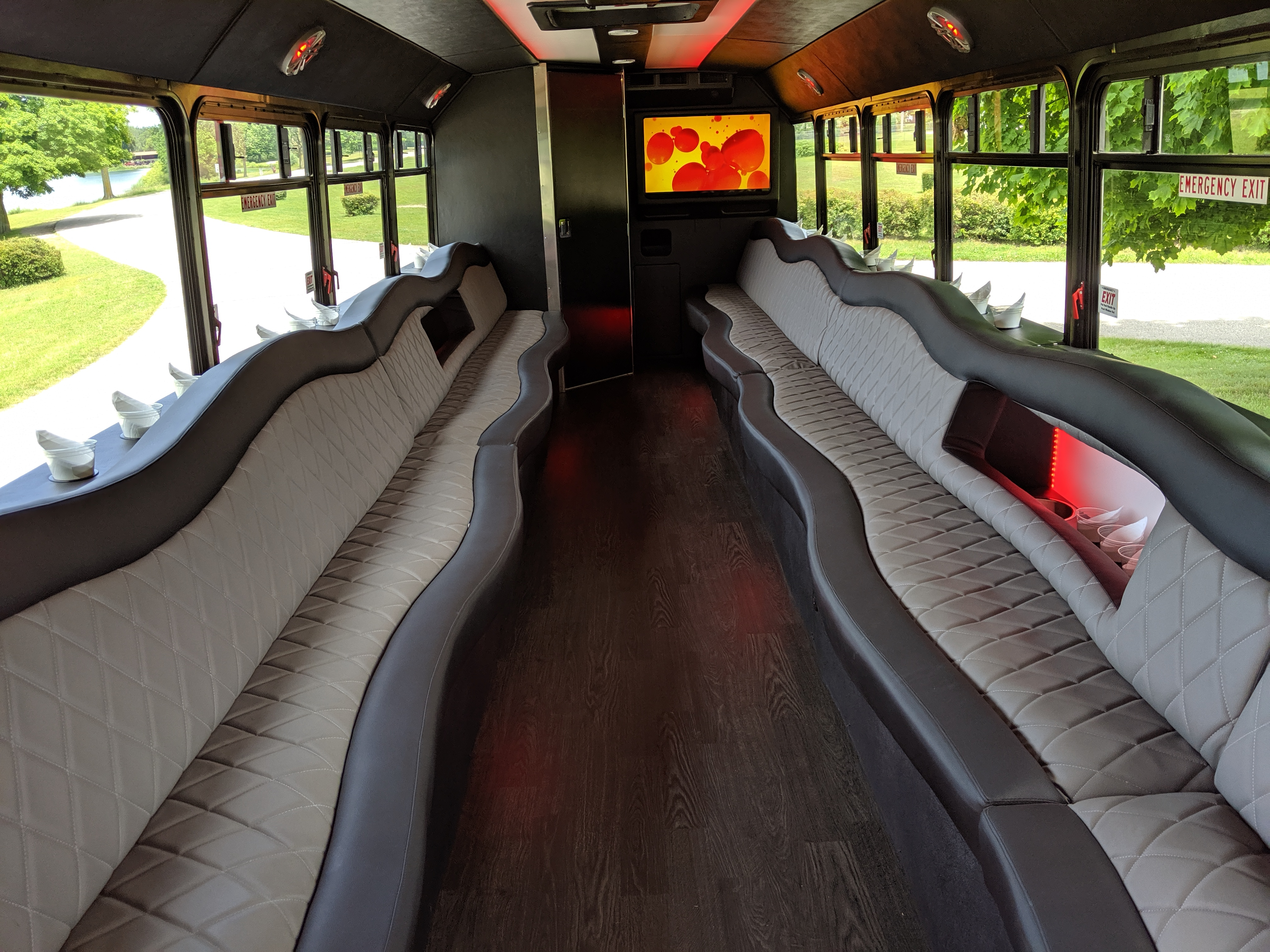 30 Passenger Luxury Limo Bus Interior 2