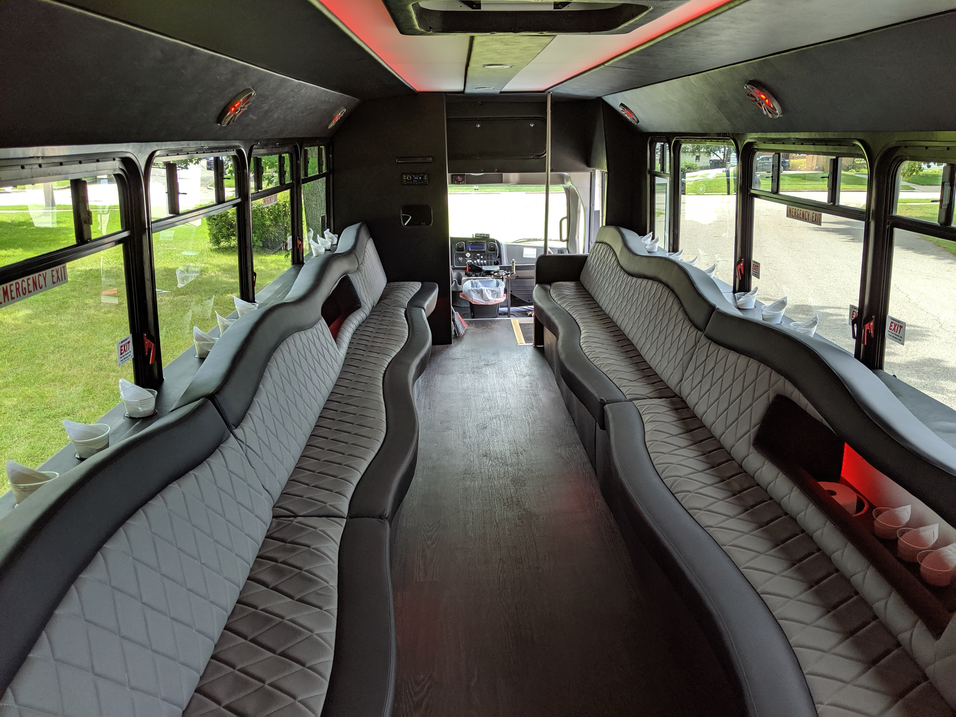 30 Passenger Luxury Limo Bus Interior 4