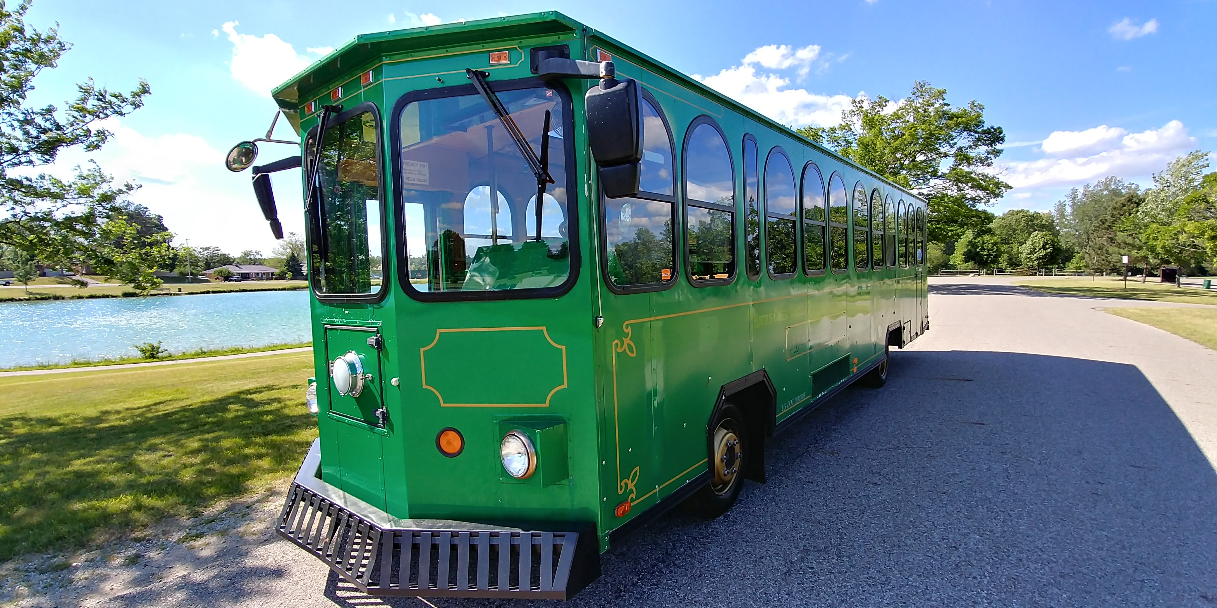 30 Passenger Trolley (#31) Driver's Side Front