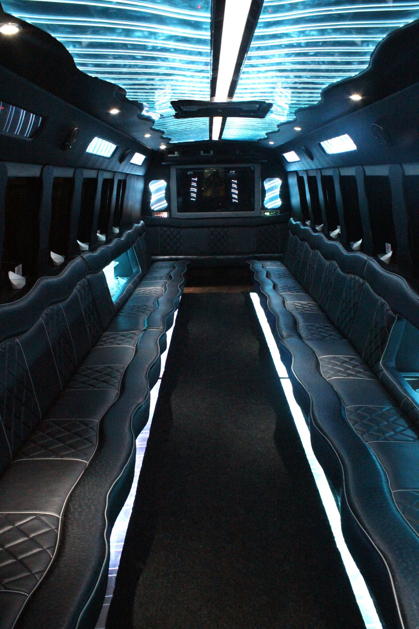 35 Passenger Luxury Limo Bus Interior 2