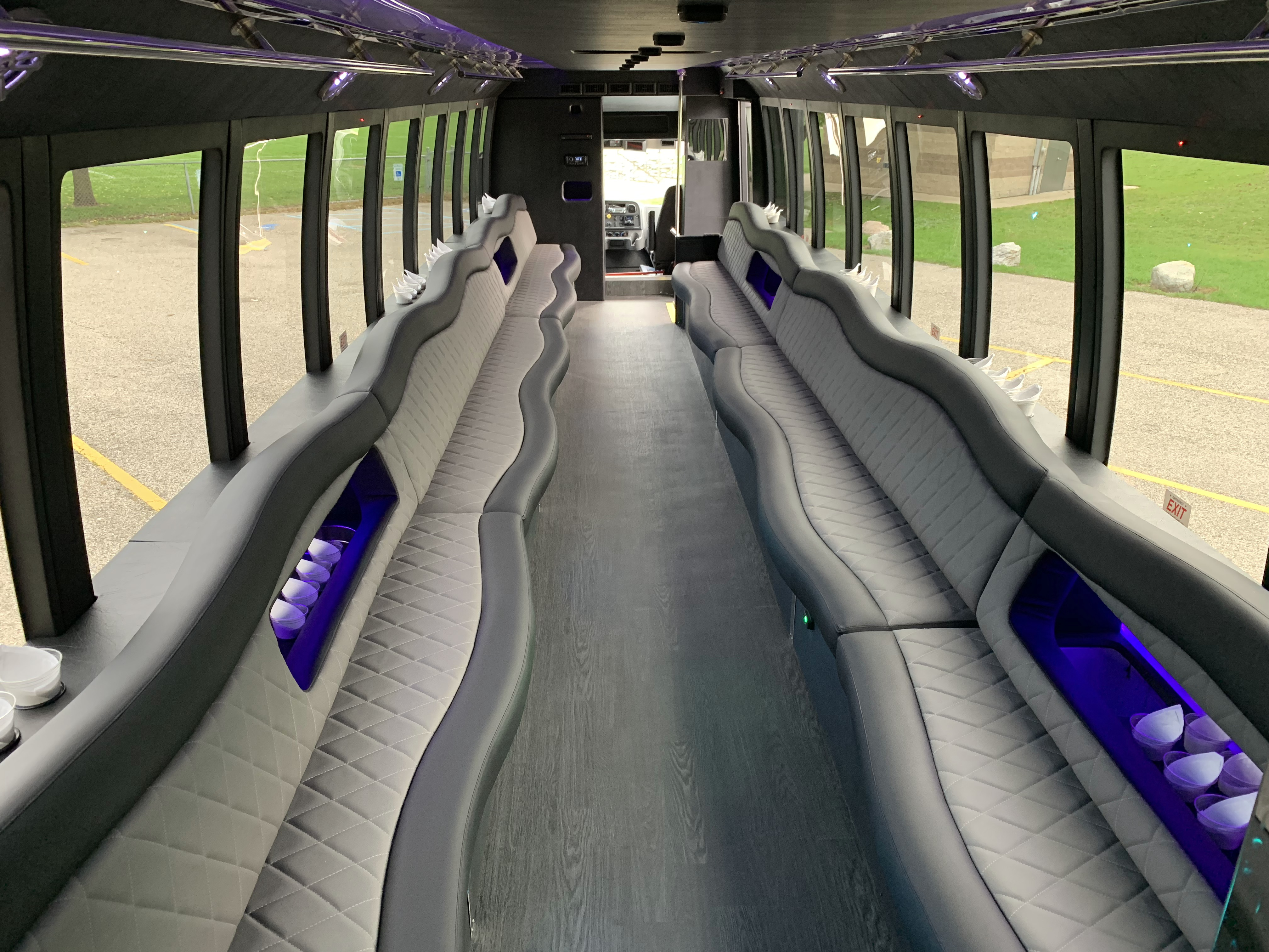 45 Passenger Luxury Limo Coach From Ceiling 1
