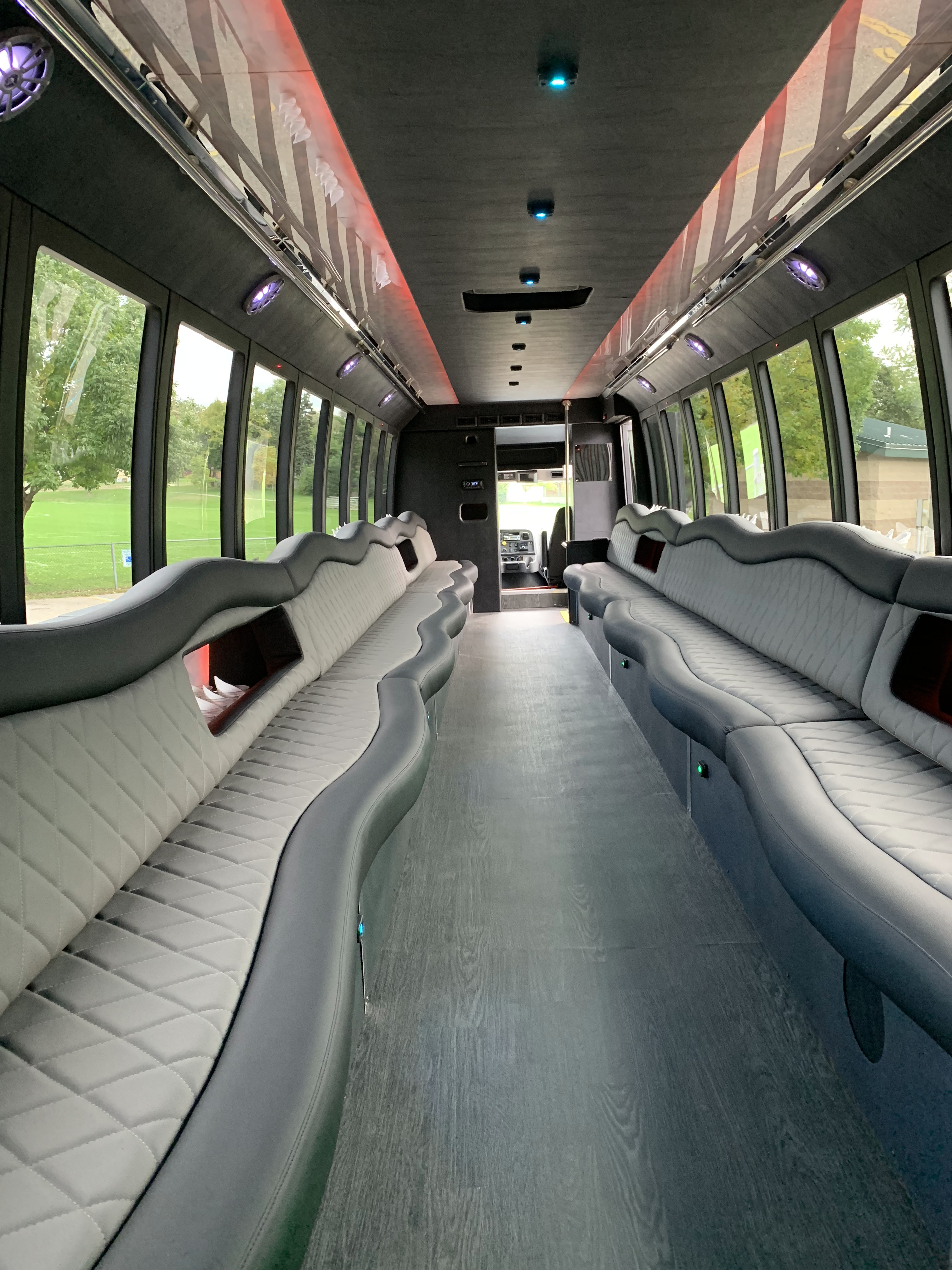 45 Passenger Luxury Limo Coach Full Interior 2