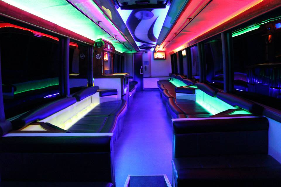 45 Passenger Luxury Limo Coach Interior 3