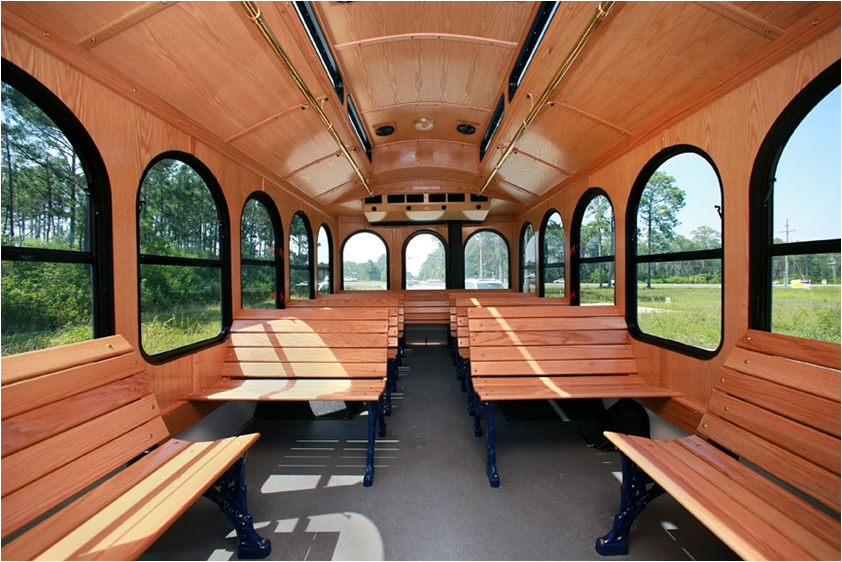 24 Passenger Trolley Interior 8