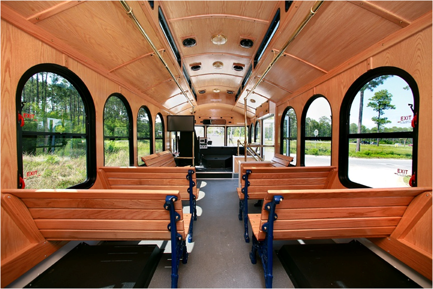 24 Passenger Trolley Interior 9