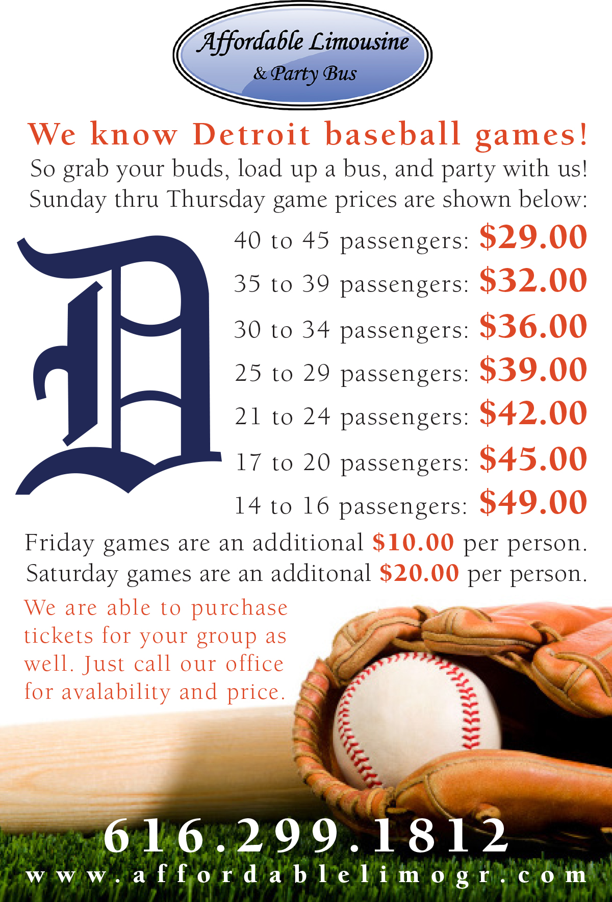 Detroit Sporting Event pricing breakdown